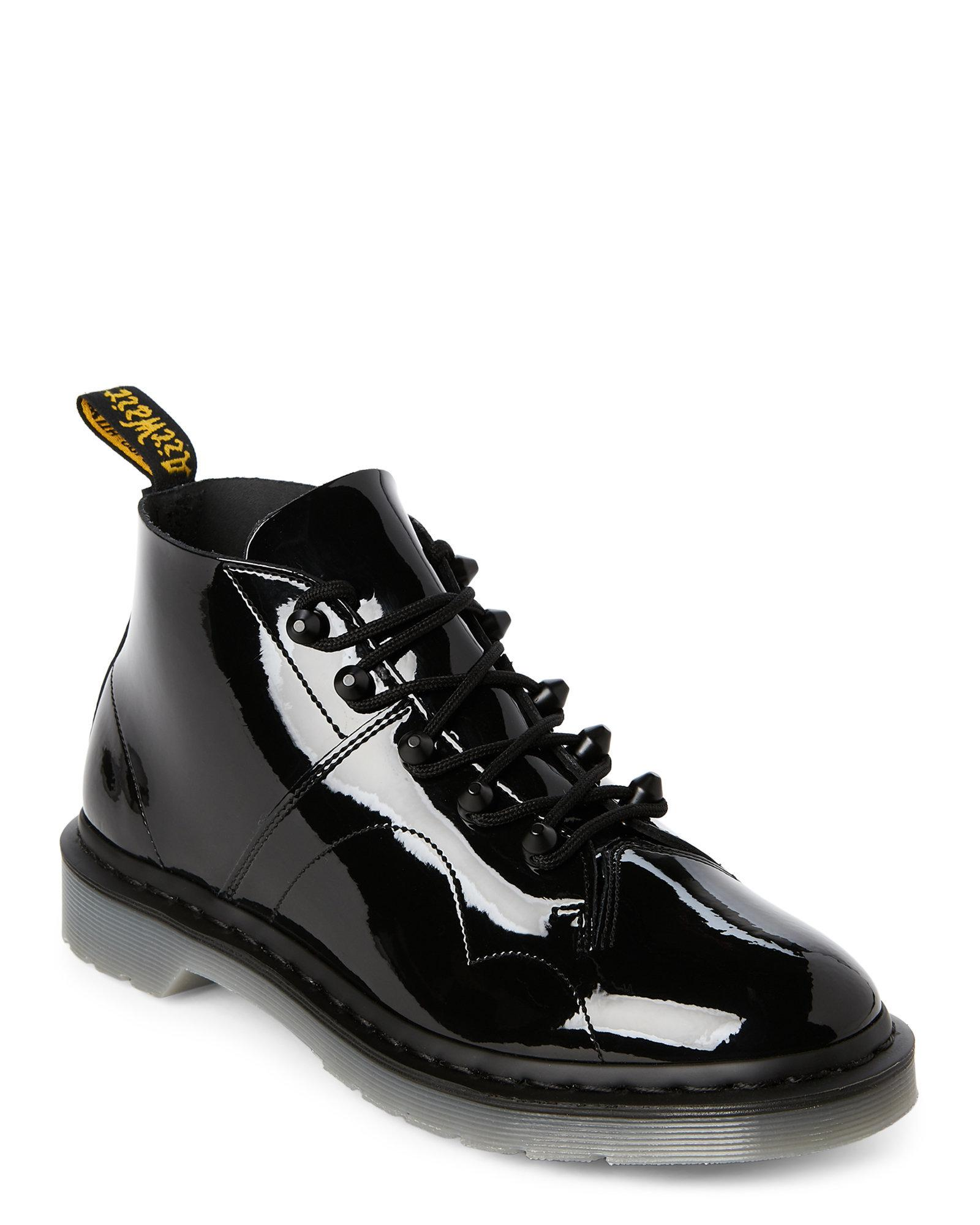 order online store order online Black Church Stud Leather Lace-up Boots