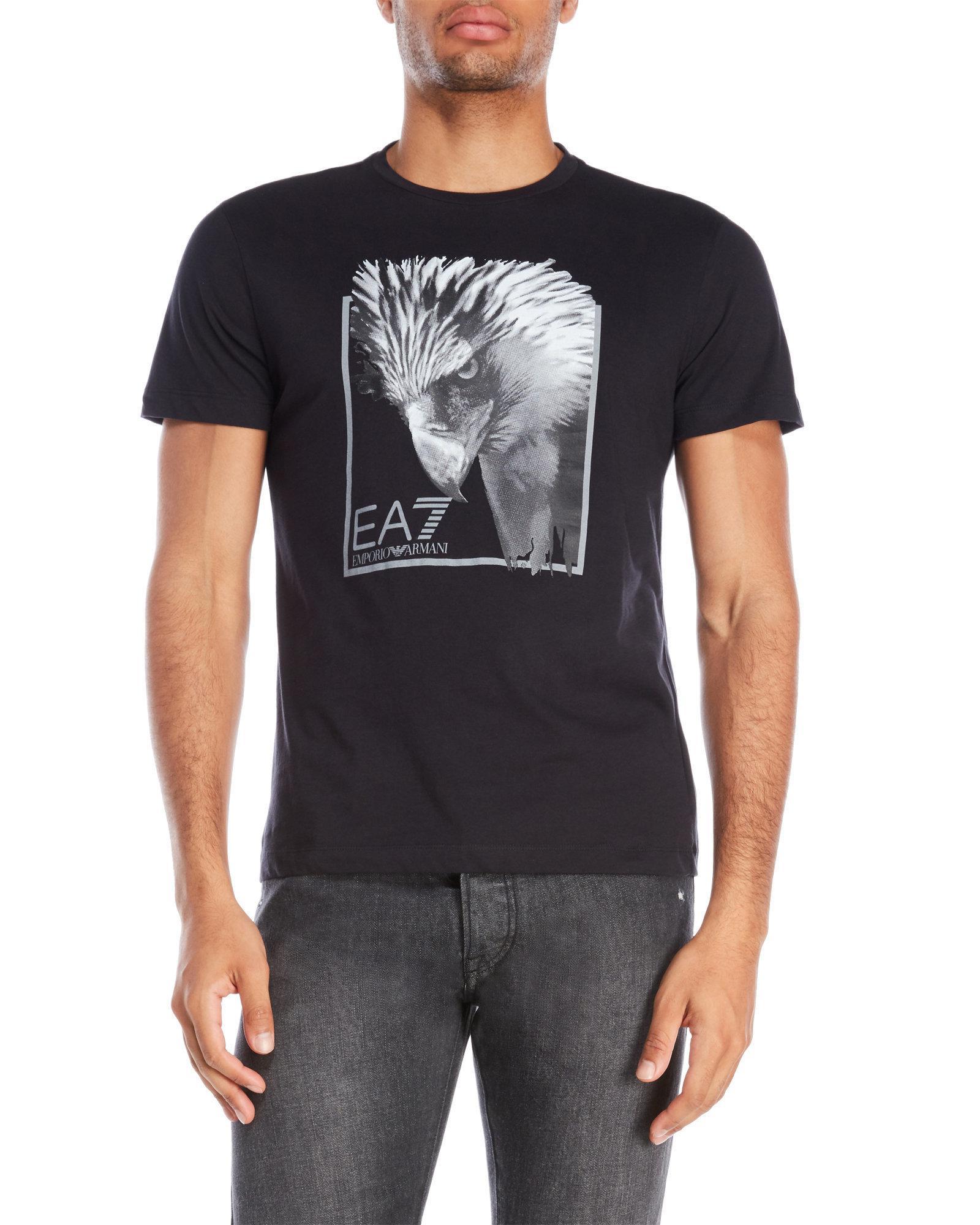 Lyst emporio armani eagle logo tee in black for men - Emporio giorgio armani logo ...