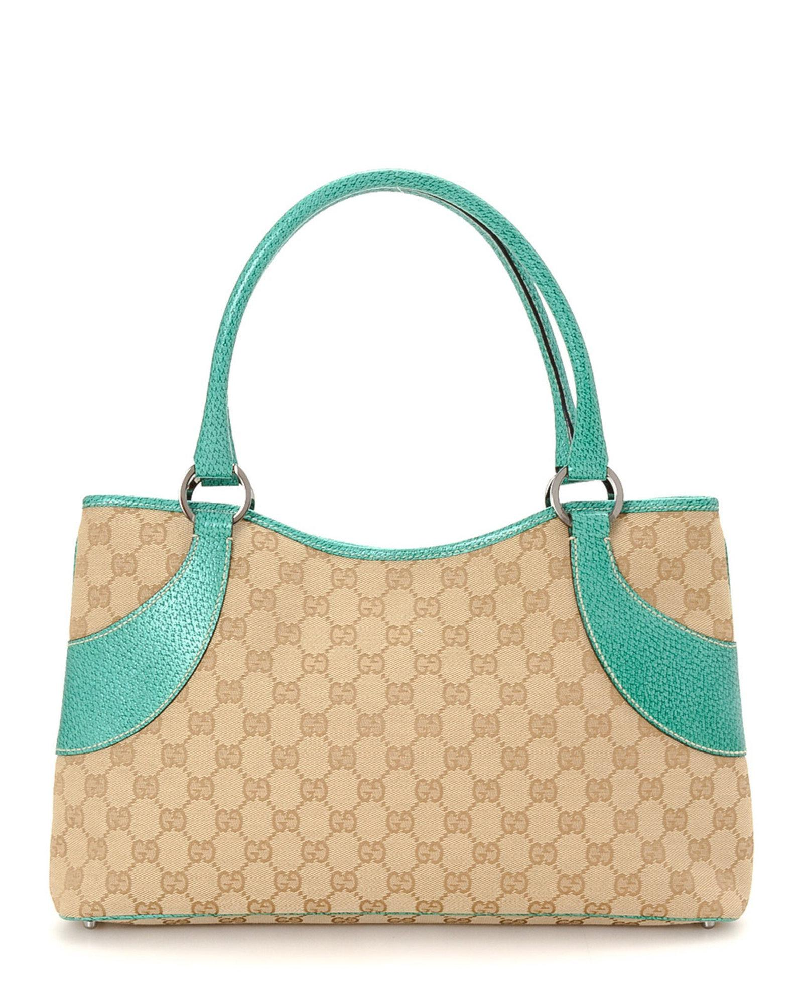 ce49aa2f0f7f Lyst - Gucci Canvas Handbag - Vintage in Natural