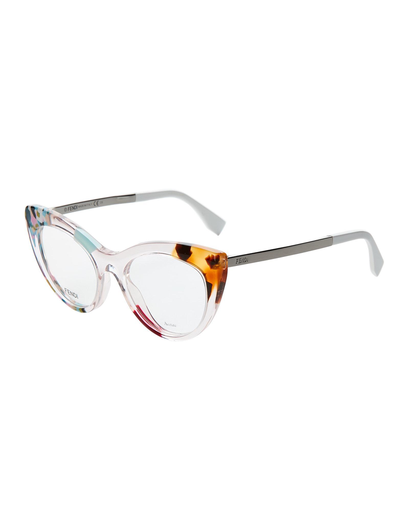 Lyst - Fendi Ff0157 Floral Cat Eye Optical Frames