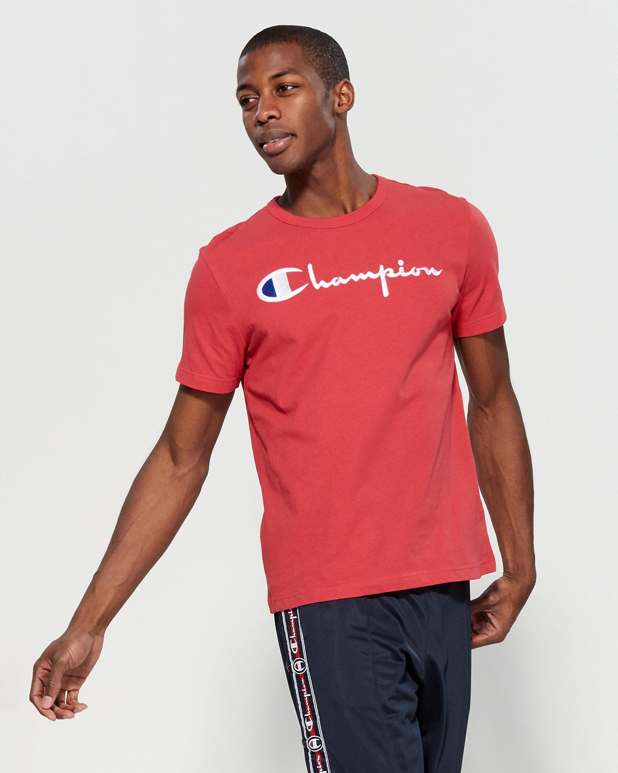 de41efd14496 Champion - Embroidered Logo Tee for Men - Lyst. View fullscreen