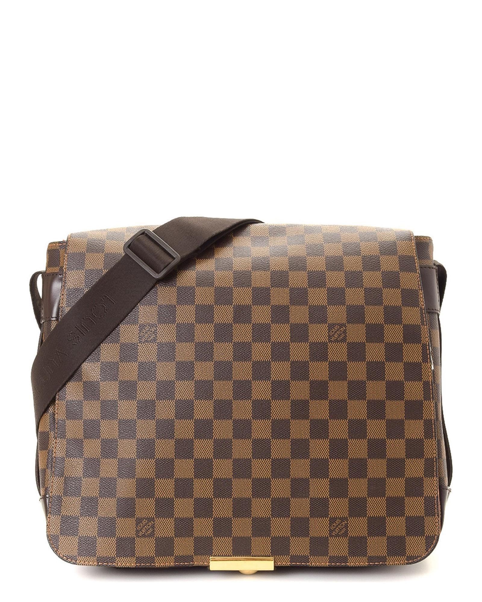 79cd8b414e50 Lyst - Louis Vuitton Bastille Damier Ebene Messenger Bag - Vintage ...