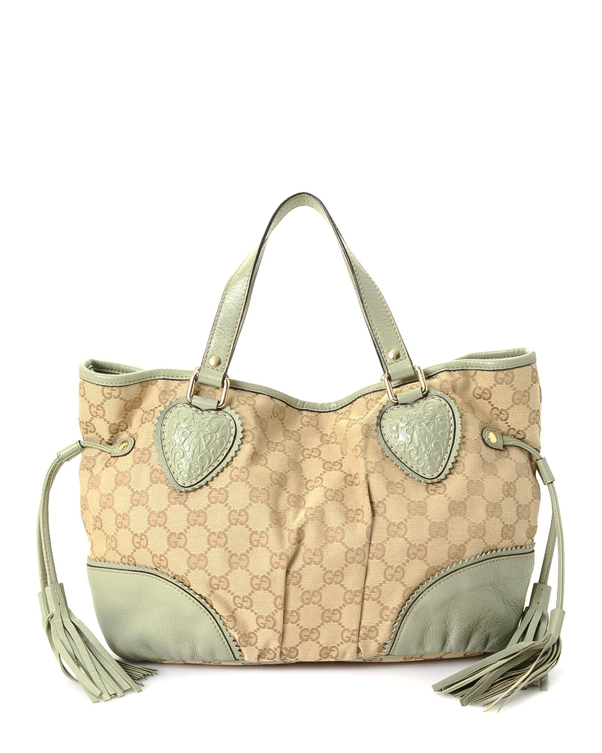 fe2f76fb505d Gucci Babouska Crest Tote - Vintage in Natural - Lyst