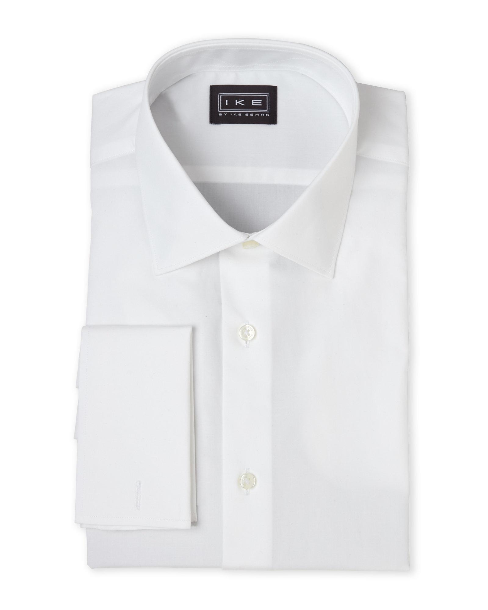 Lyst ike by ike behar white french cuff regular fit for Century 21 dress shirts