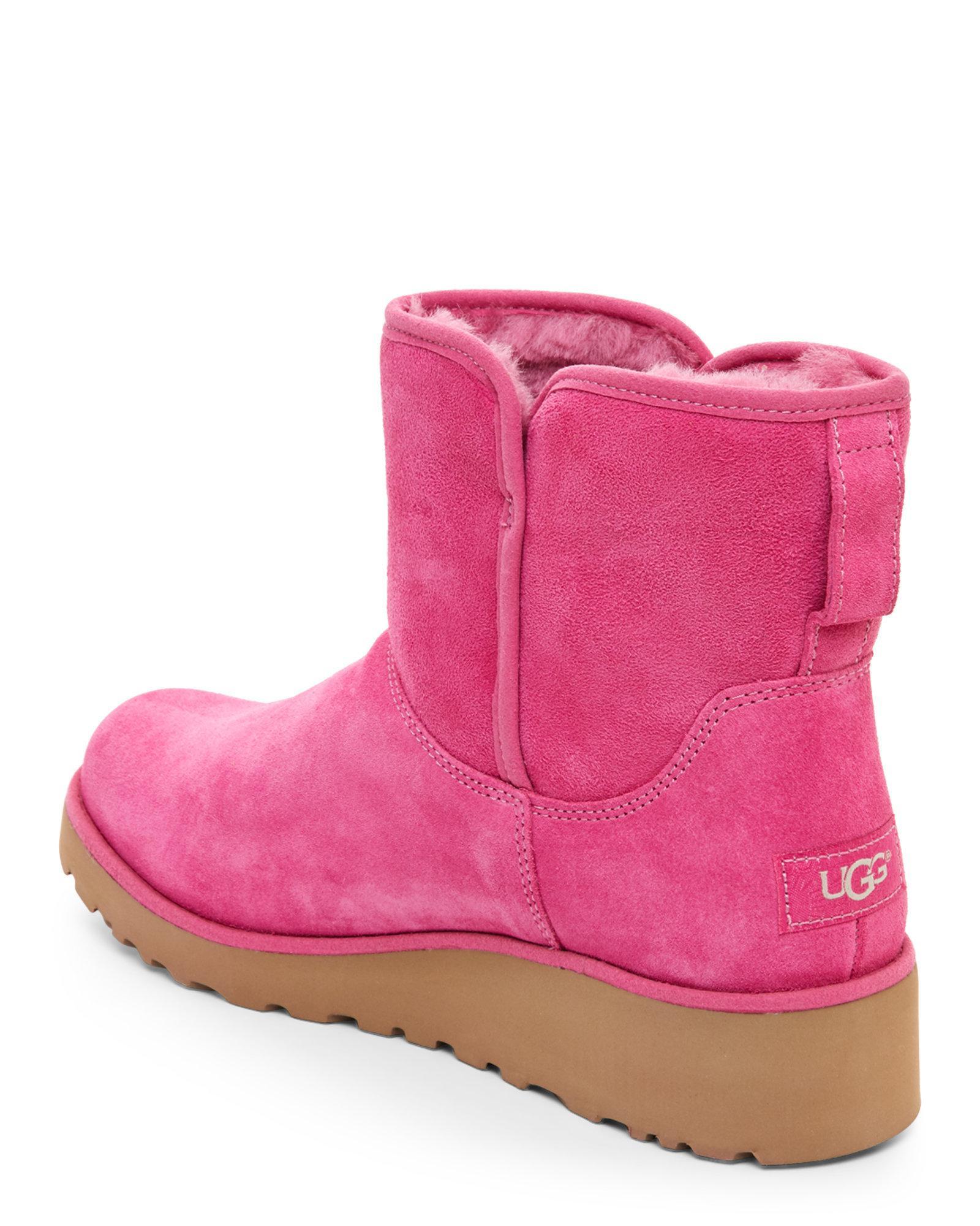 0d3ac402663 Ugg Pink Kristin Classic Slim Mini Boots