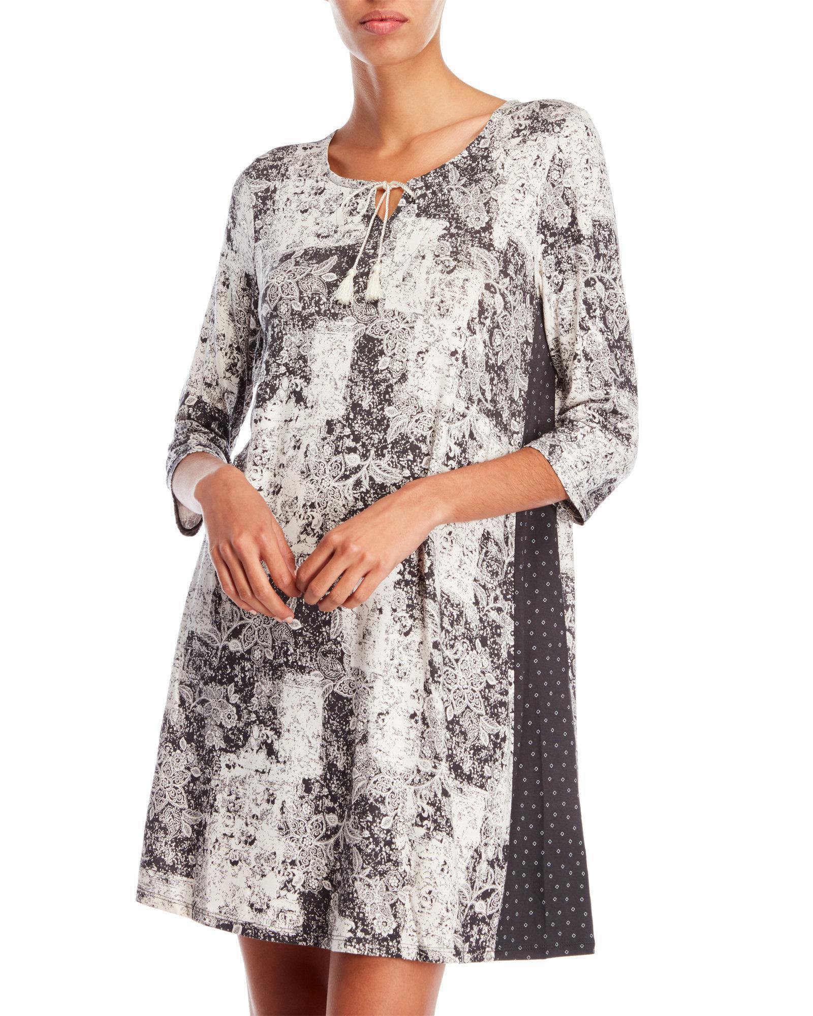 26514c33461 Lyst - Ellen Tracy Tassel Sleep Shirt in Gray