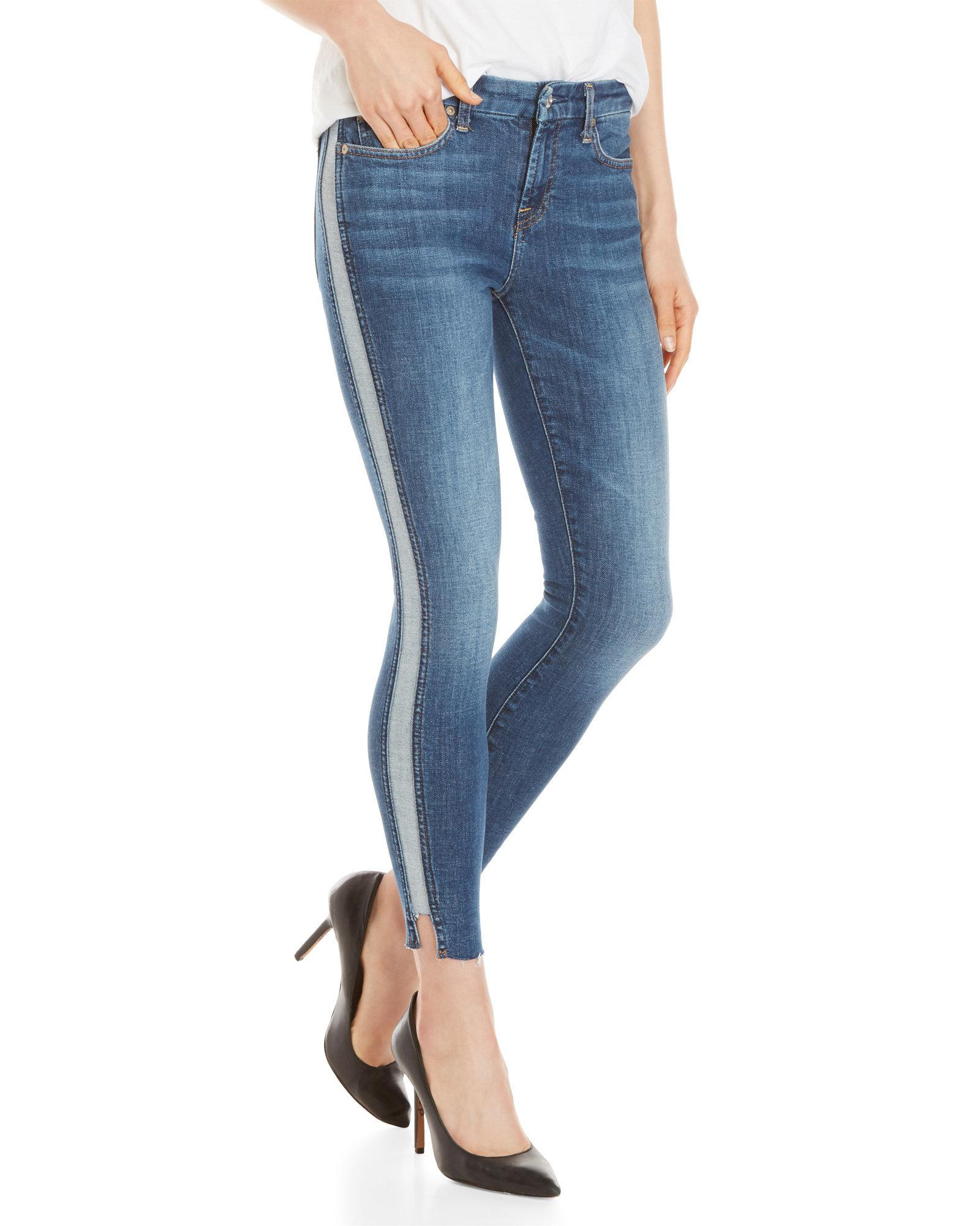 dirt cheap detailed look discount sale Tuxedo Stripe Ankle Skinny Jeans