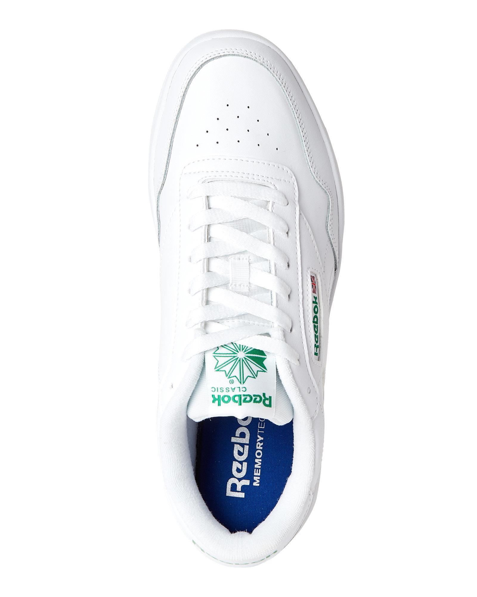 9d5f166c0538 Lyst - Reebok White   Glen Green Club Memt Leather Low-top Sneakers ...