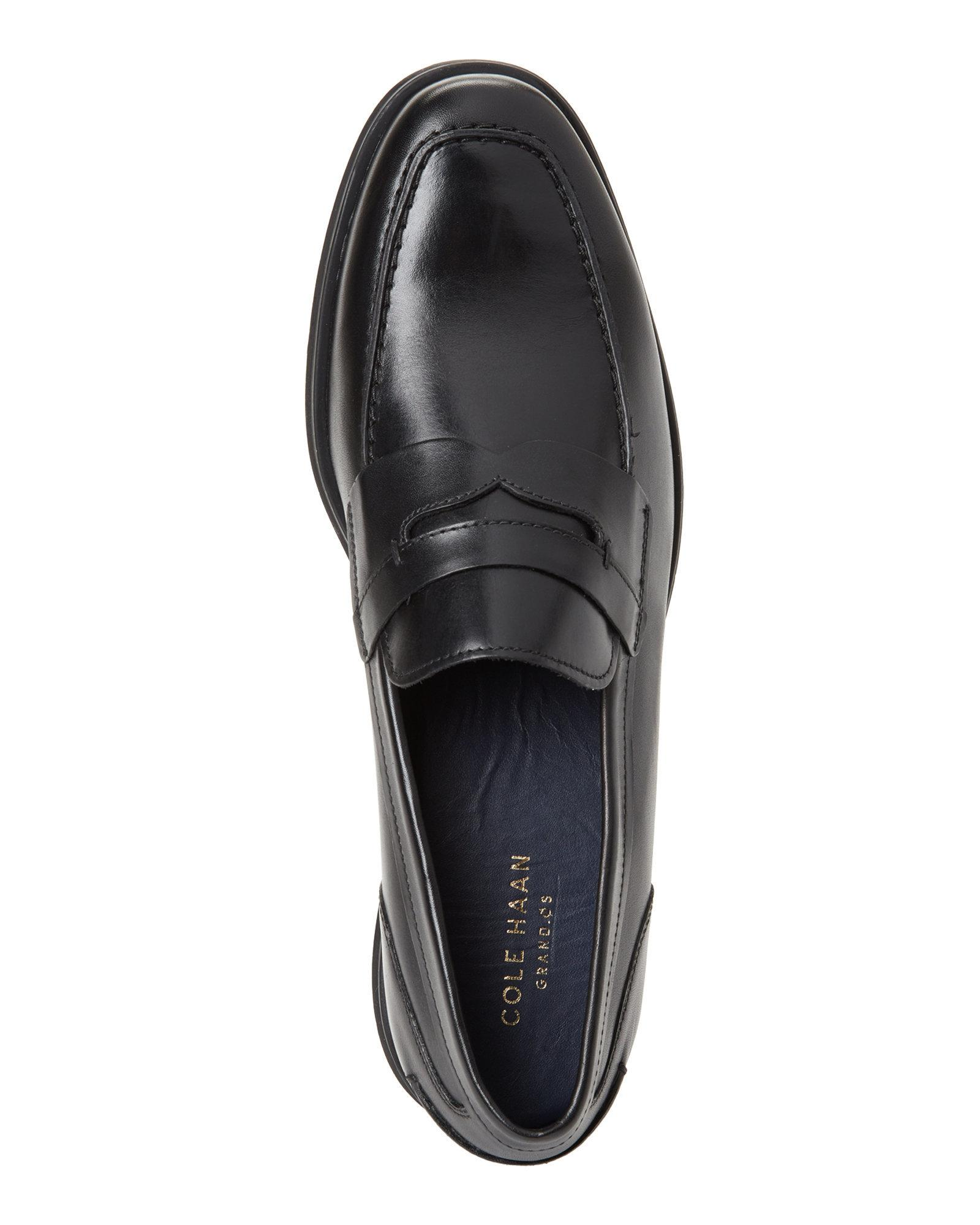 Cole Haan Leather Black Fleming Penny Loafers for Men - Lyst