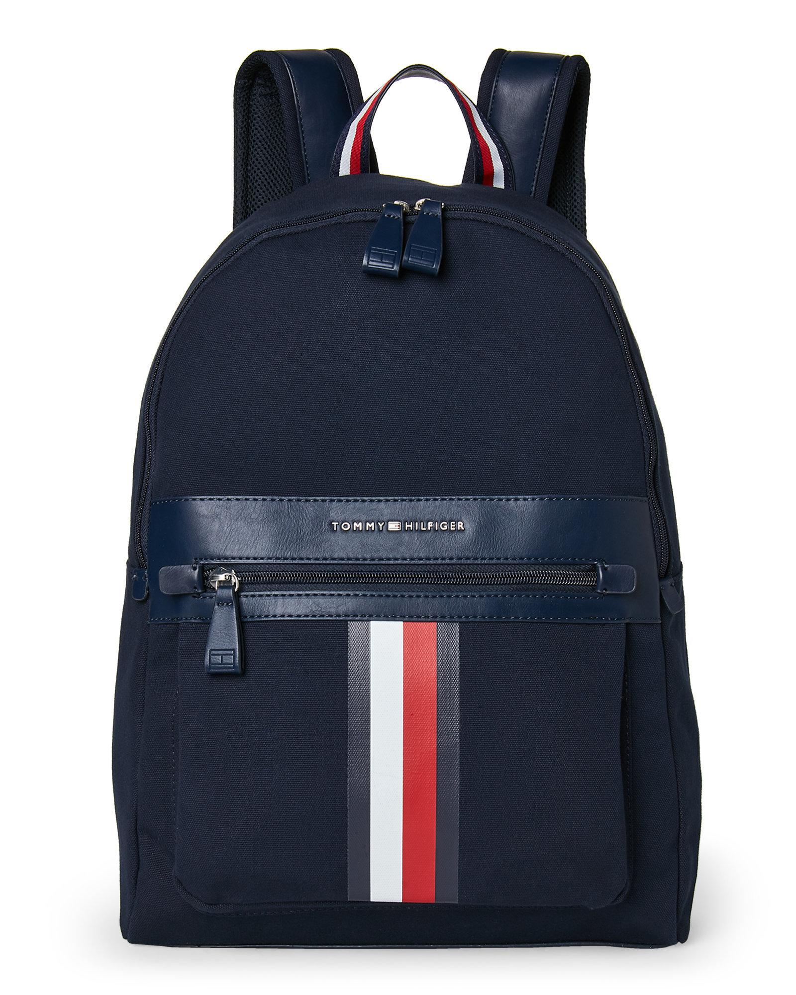 lyst tommy hilfiger icon laptop canvas backpack in blue. Black Bedroom Furniture Sets. Home Design Ideas