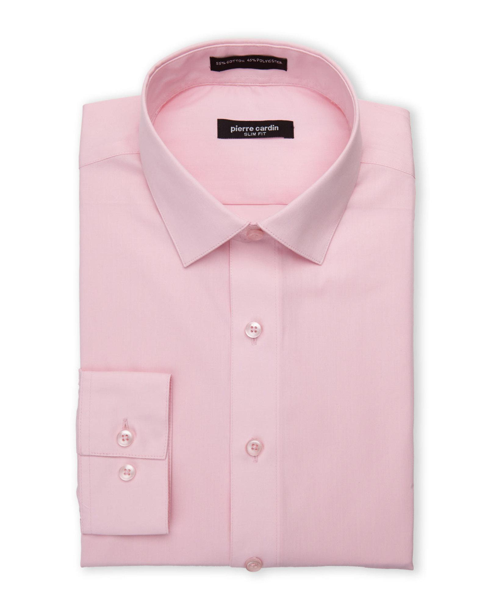 Lyst pierre cardin slim fit pink dress shirt in pink for men for Century 21 dress shirts