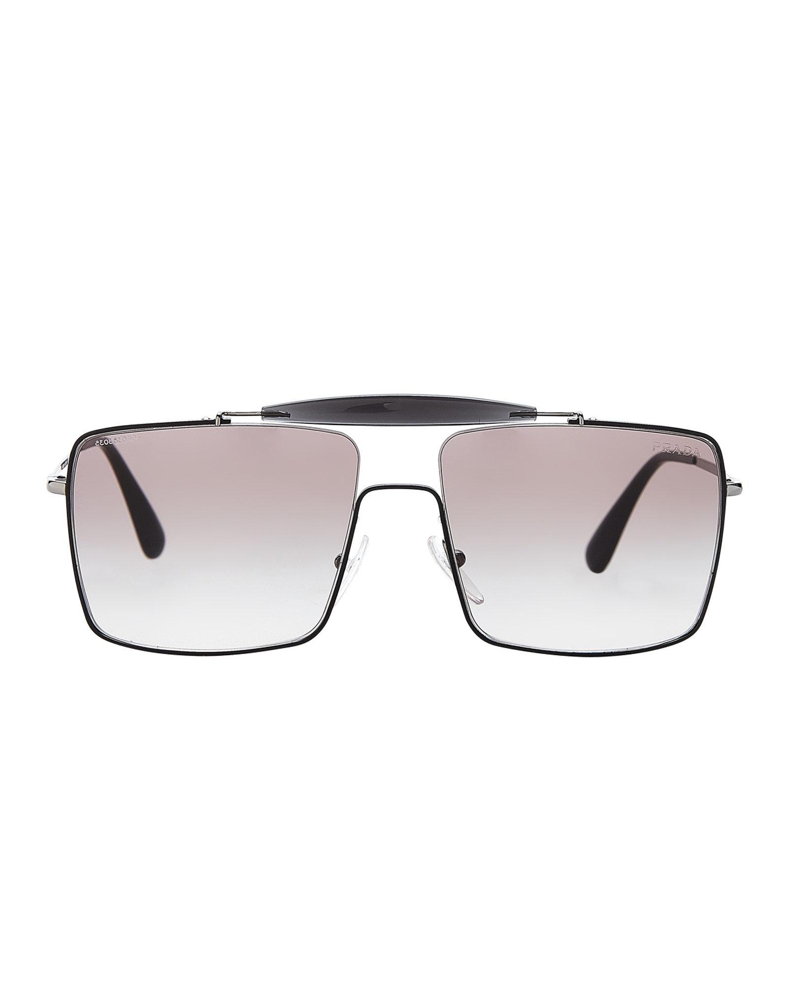b0dd7ae1eb80 ... get prada spr 57s black navigator sunglasses for men lyst. view  fullscreen bece0 56185