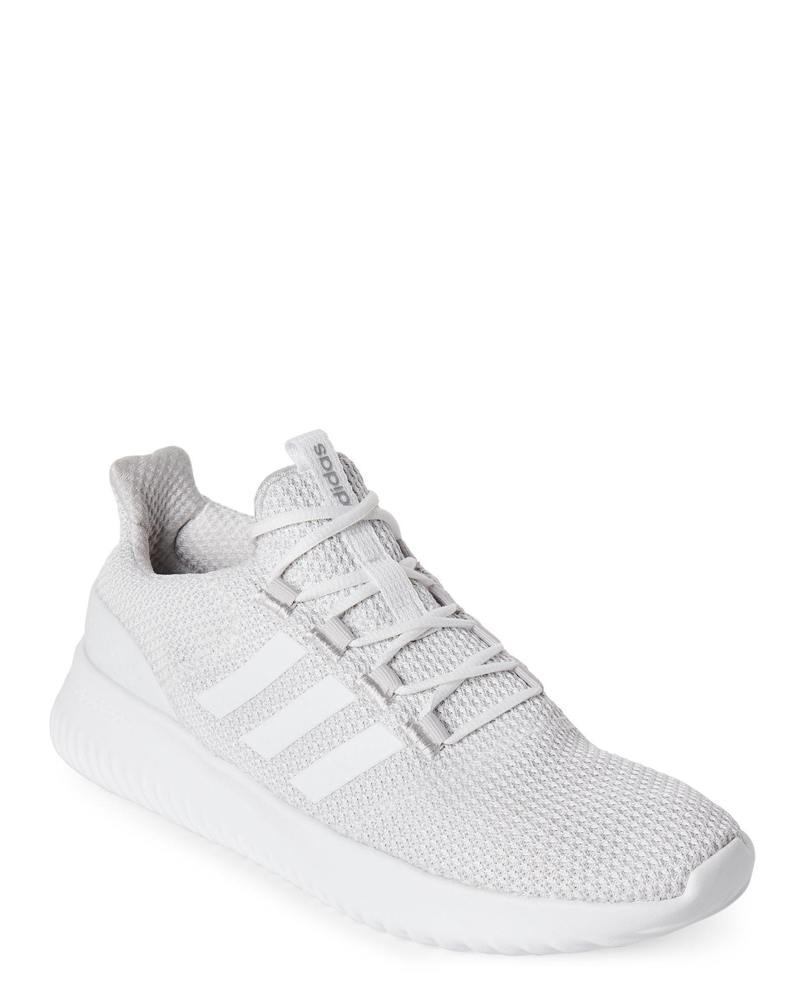 all white cloudfoam adidas- OFF 59