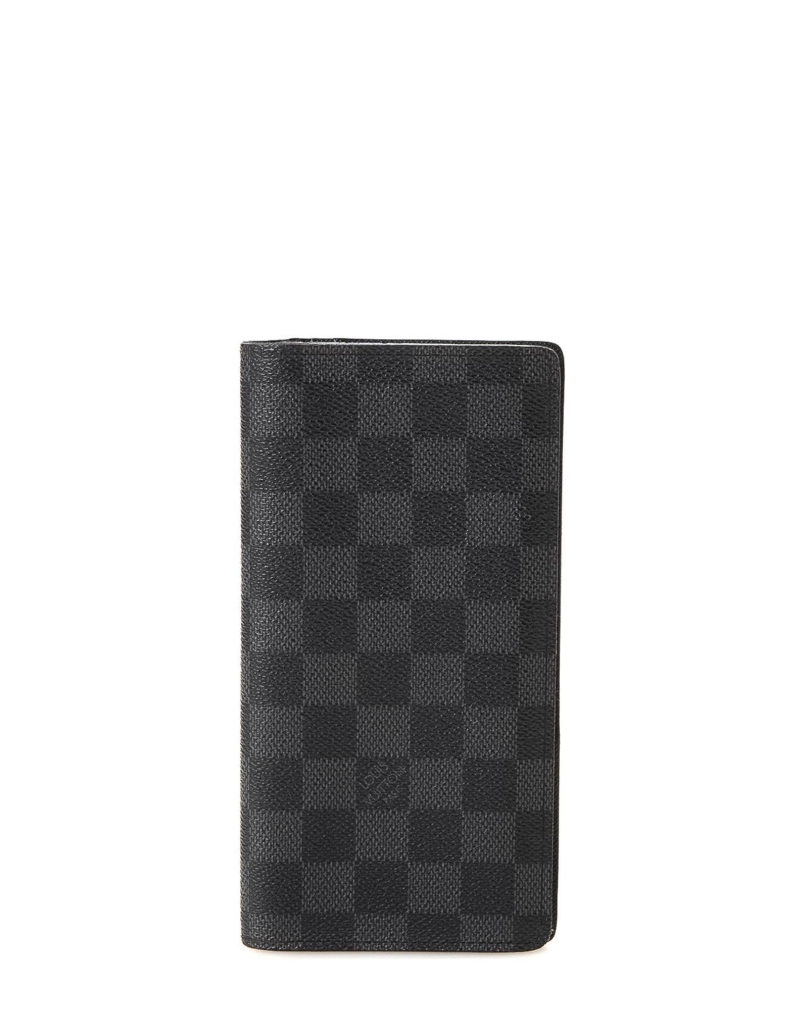 e4d76a2bc1e4 Lyst - Louis Vuitton Damier Graphite Brazza Wallet - Vintage in Black