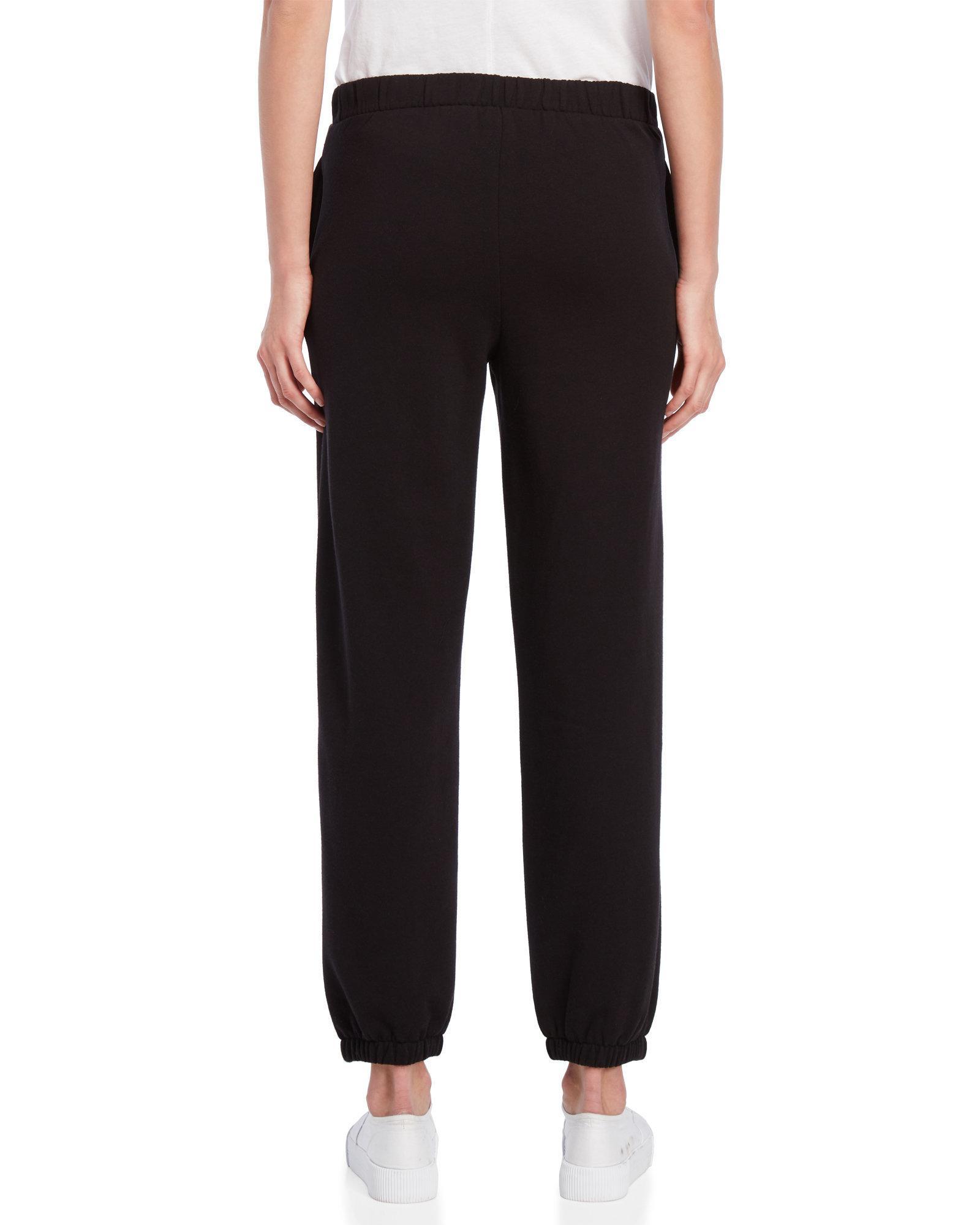 677bcd526f Lyst - Juicy Couture Emblem Logo Fleece Sweatpants in Black