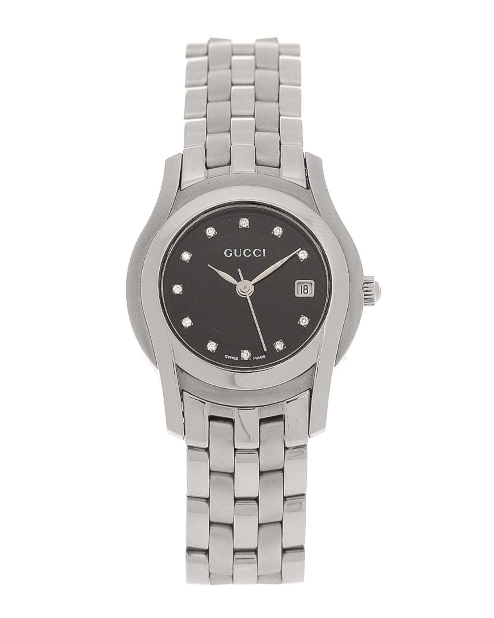 1eecb804d54 Lyst - Gucci 5500L Diamond Watch - Vintage in Metallic