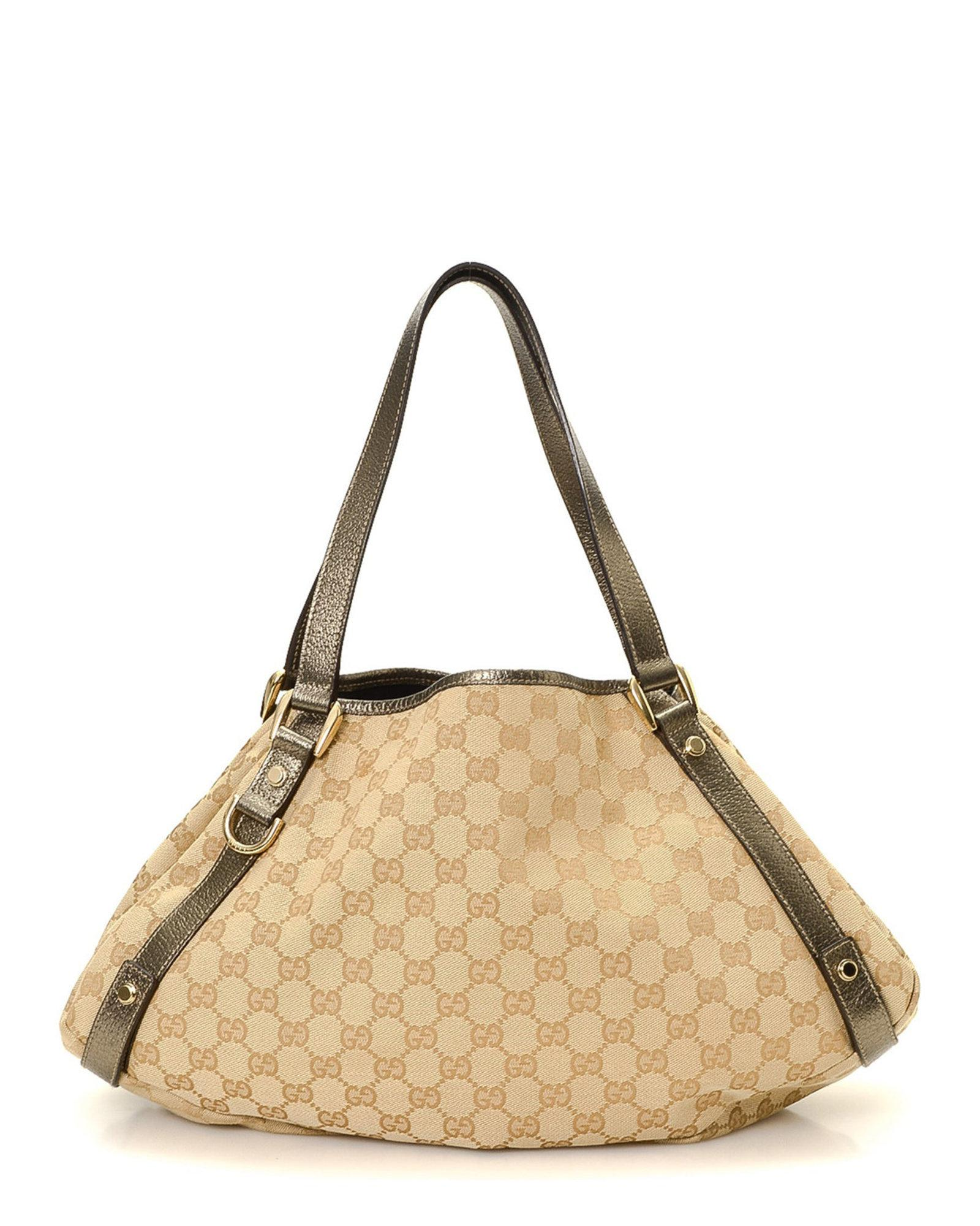 00656056bff Lyst - Gucci Canvas Abbey Tote - Vintage in Natural