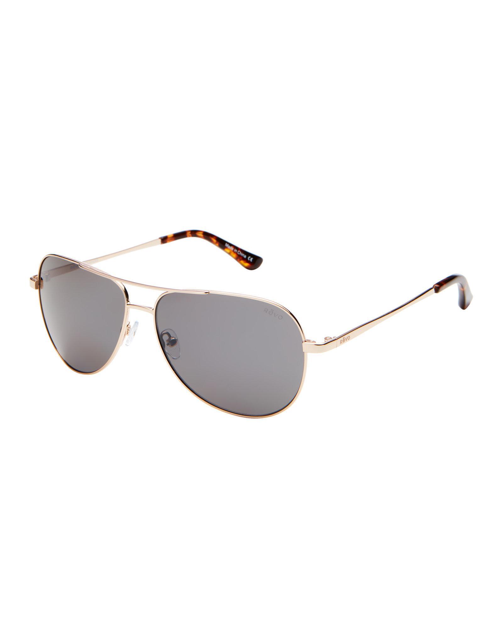 7a78056254d Lyst - Revo Re5015 Gold-tone Johnston Polarized Aviator Sunglasses ...