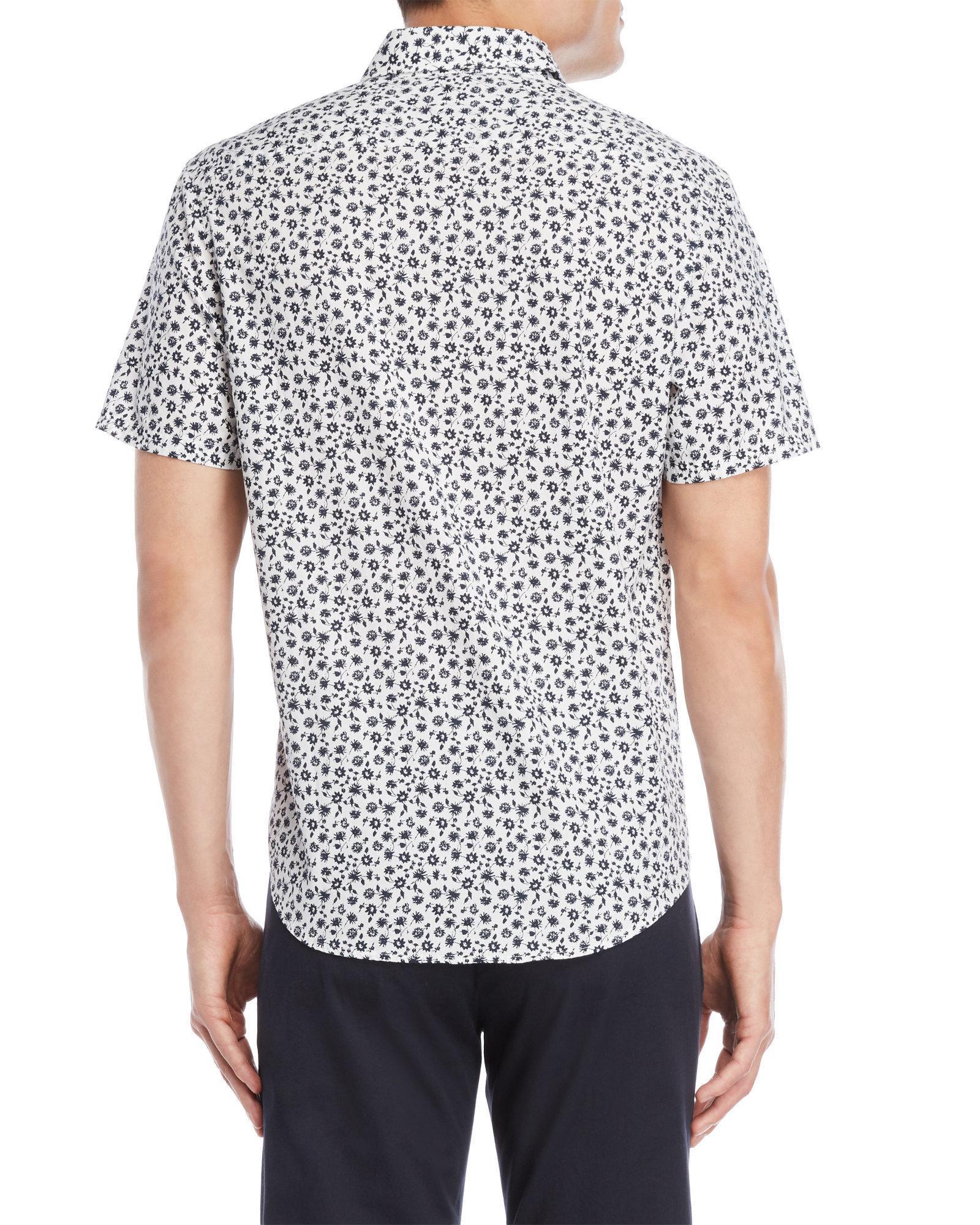 f102c87c Lyst - Original Penguin Floral Heritage Slim Fit Shirt in White for Men