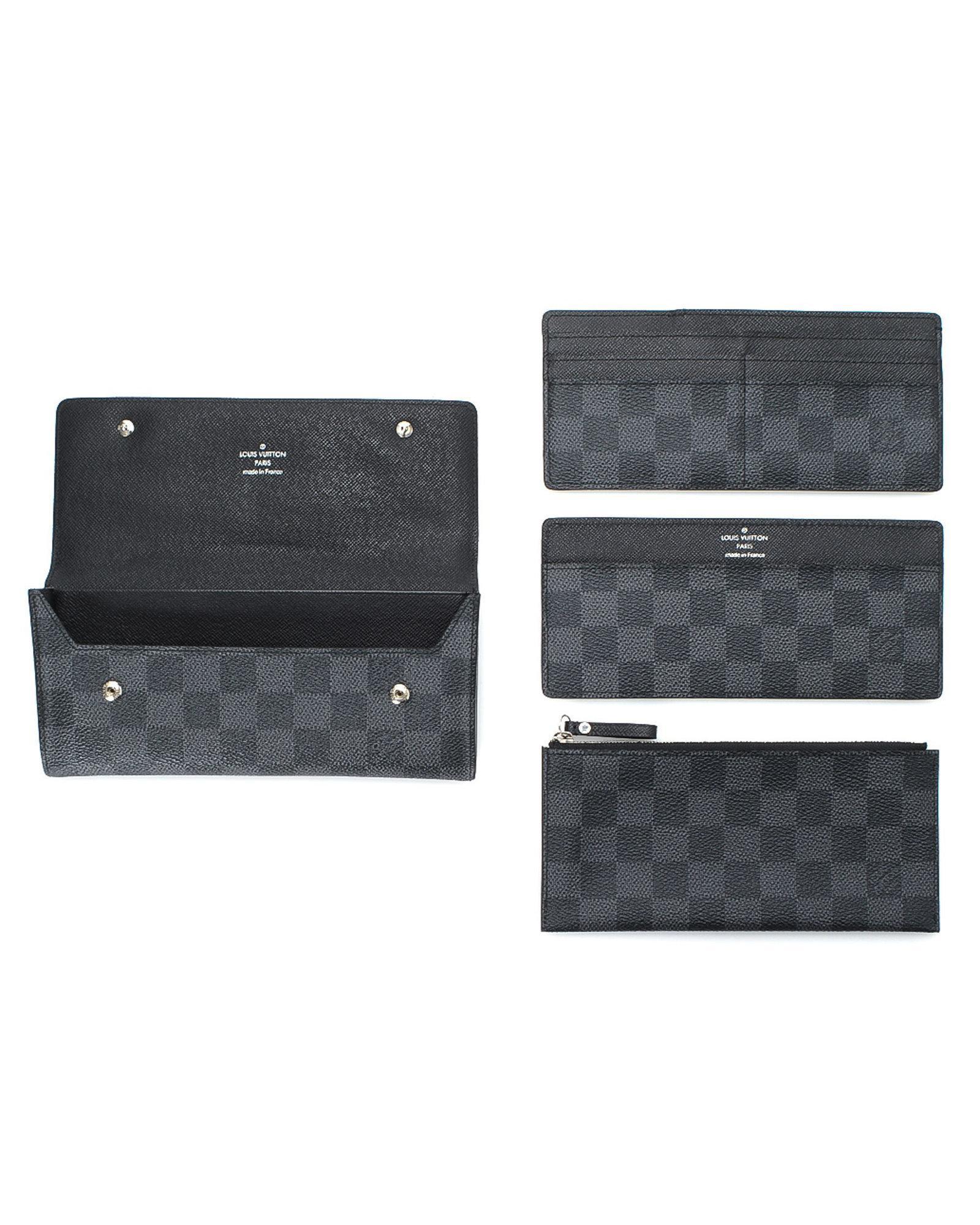 Lyst - Louis Vuitton Damier Graphite Portefeuille Long Modulable ... c4a4a556928
