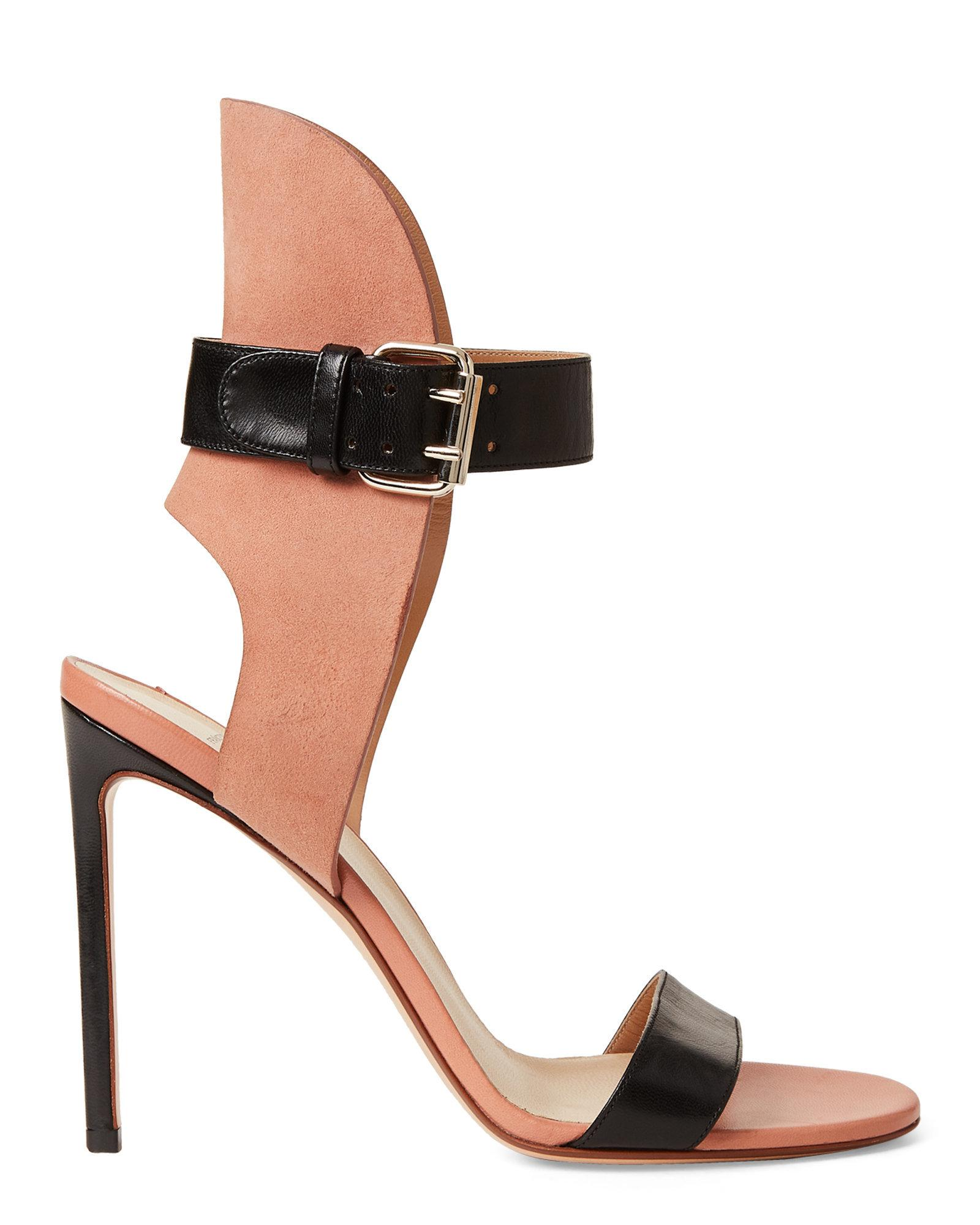 77ba2a76012 Lyst - Francesco Russo Leather Ankle Strap Sandals in Black