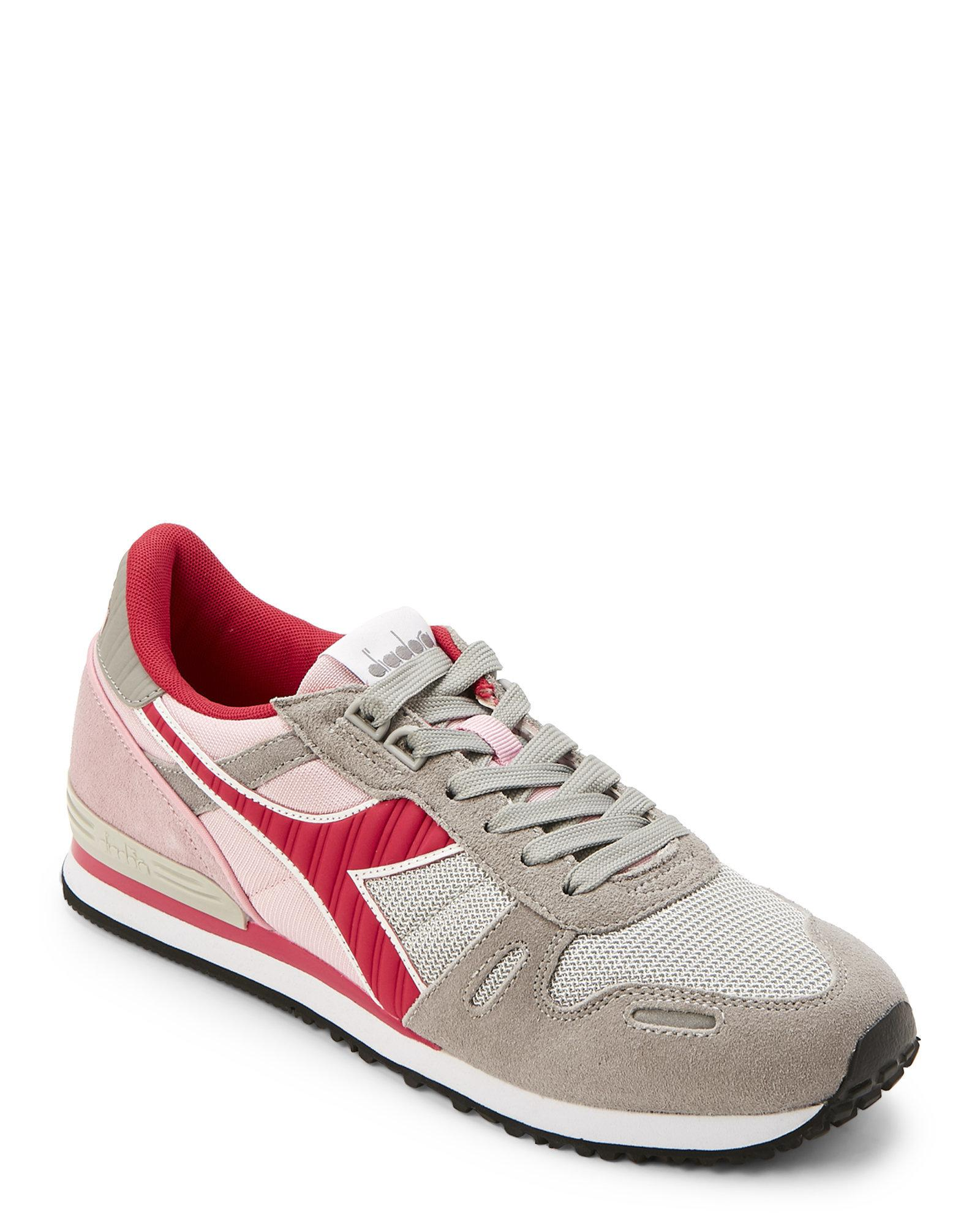 2a459a82 Diadora Multicolor Paloma Grey & Pink Titan Ii Suede Jogger Sneakers for men