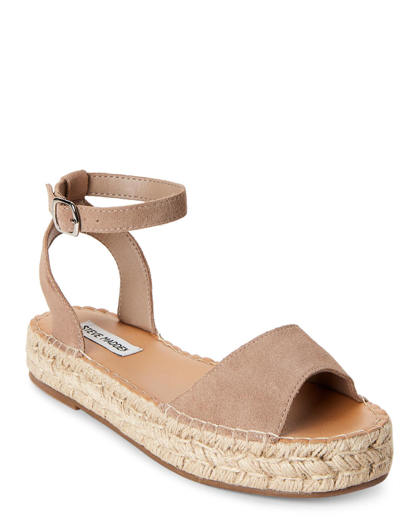 3c937d99de8 Lyst - Steve Madden Sand Irys Platform Espadrille Sandals