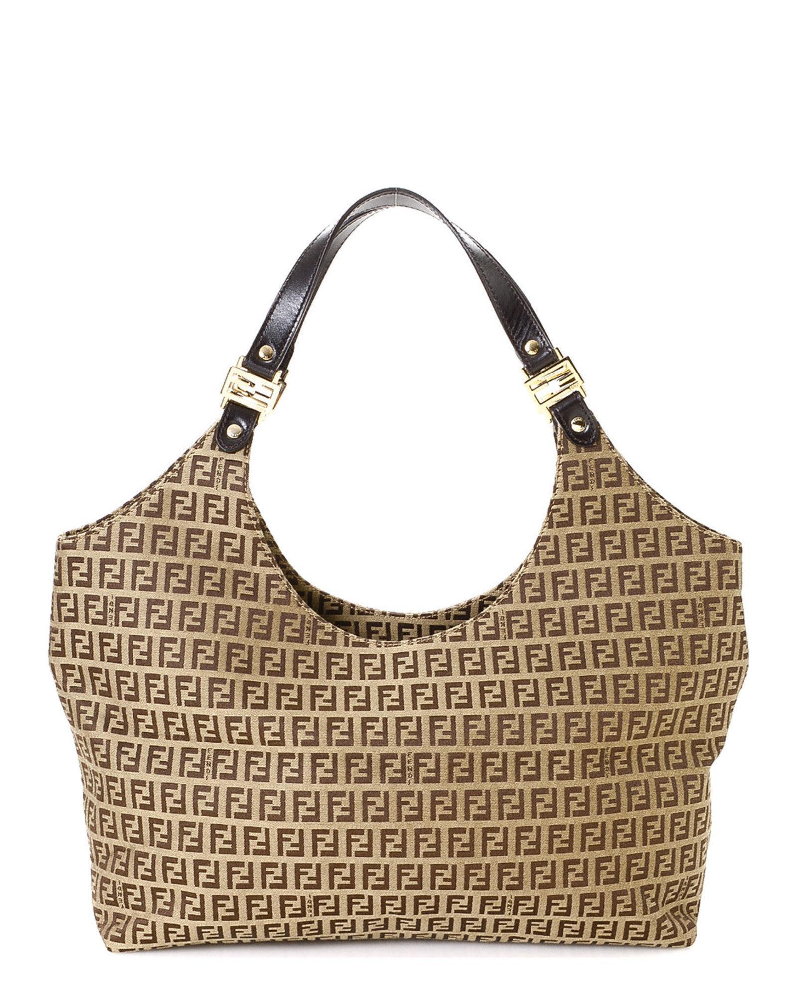 1ea7910deda8 Lyst - Fendi Zucchino Shoulder Bag - Vintage in Brown