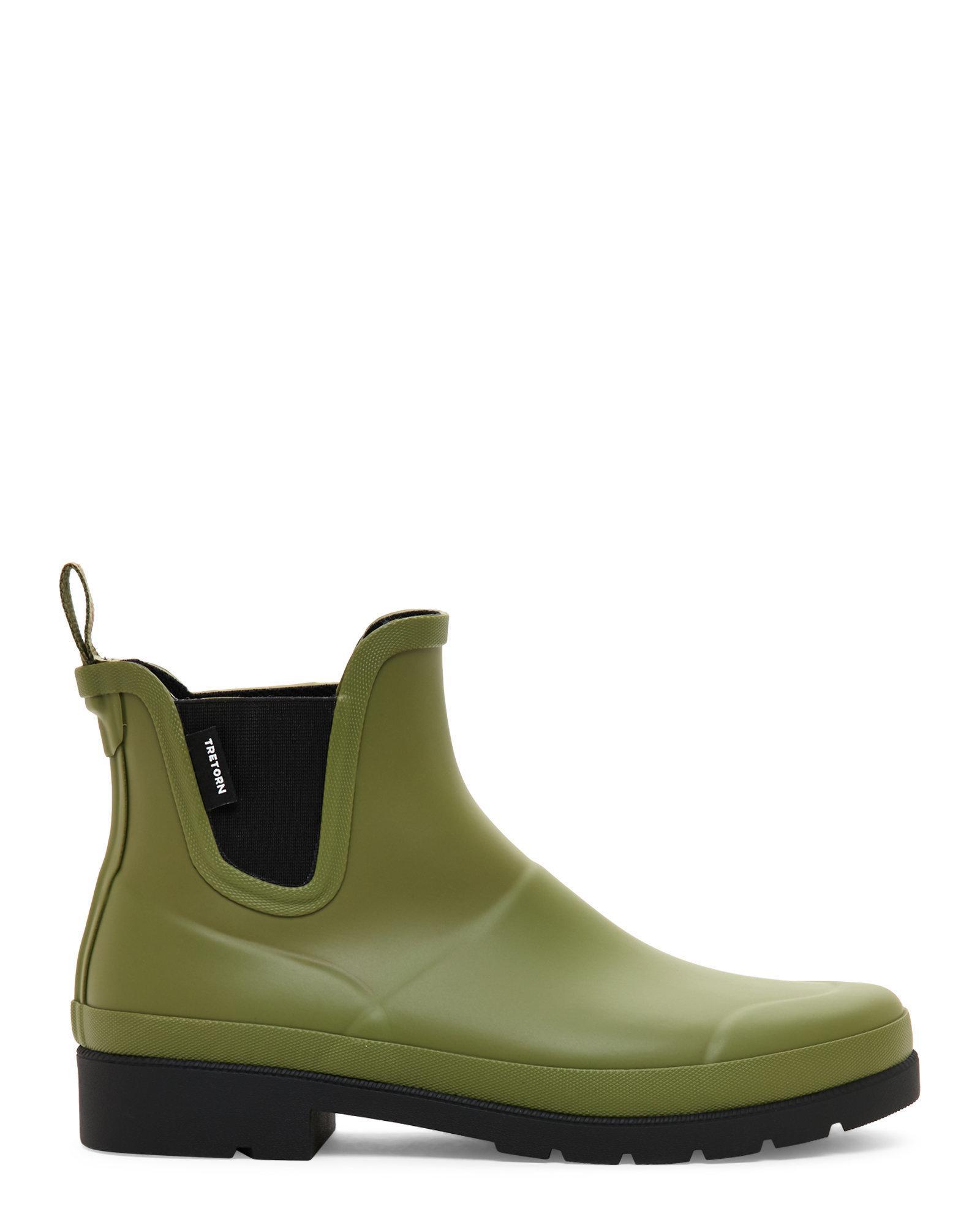 Lyst Tretorn Olive Amp Black Lina Short Rain Boots In