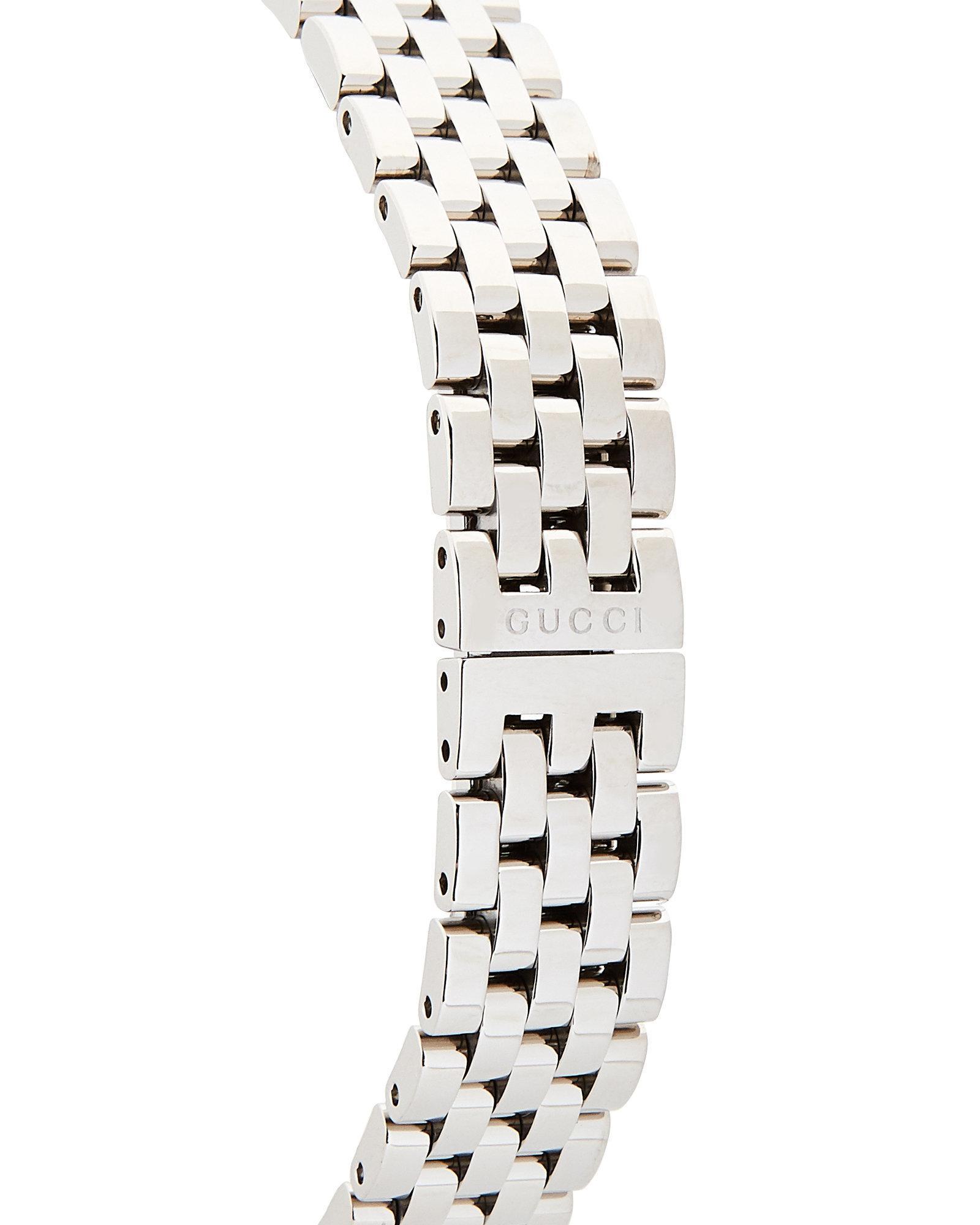 b18f7120c67 Lyst - Gucci Ya128401 G-frame Silver-tone   Pink Watch in Metallic