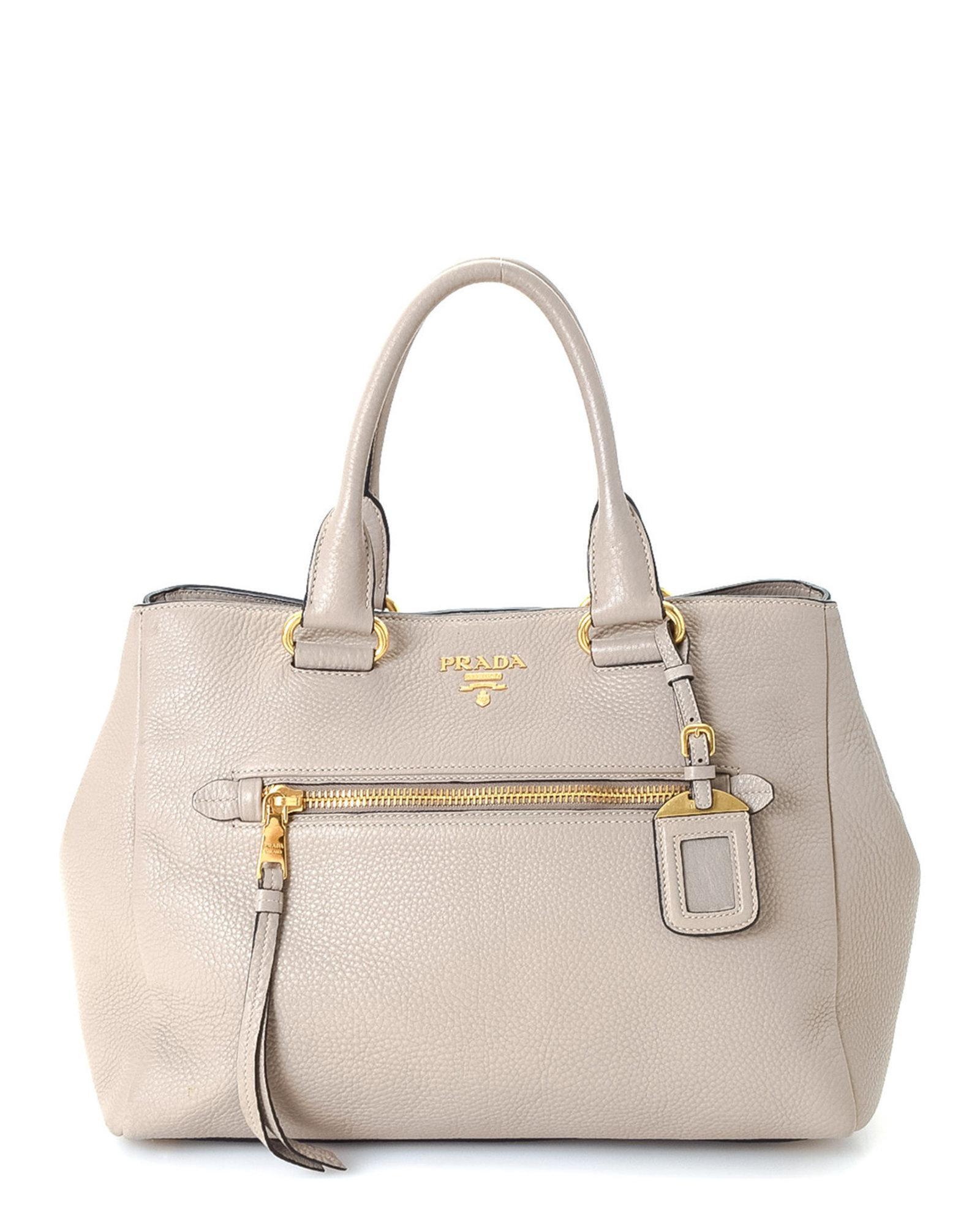 9984de36315a9 Lyst - Prada Vitello Daino Tote Bag - Vintage in Gray