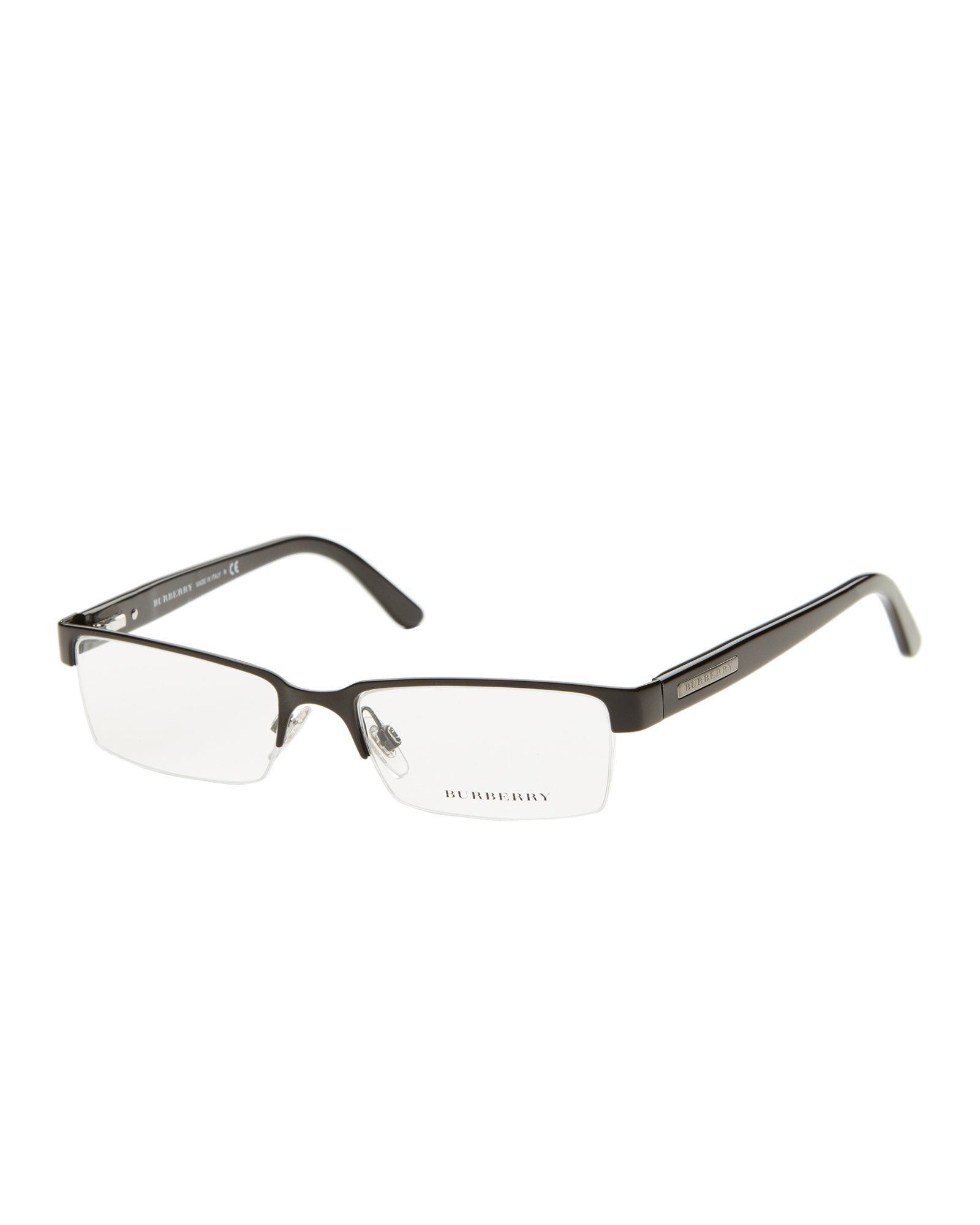 19ed4efff24d Burberry Be1156 Black Rectangle Half-rim Optical Frames - Lyst