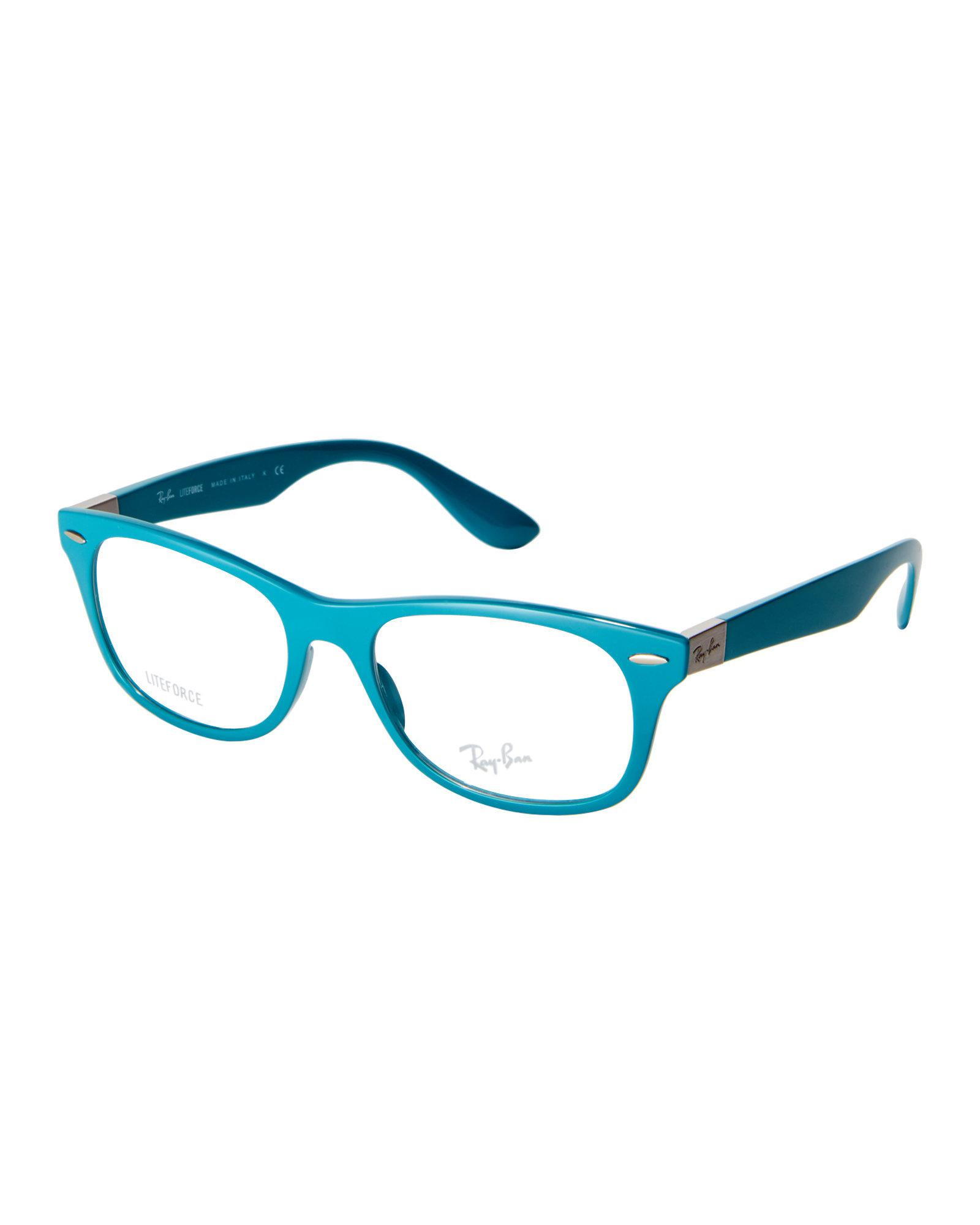 12b7a755ff Lyst - Ray-Ban Rb7032 Teal Wayfarer Frames in Blue