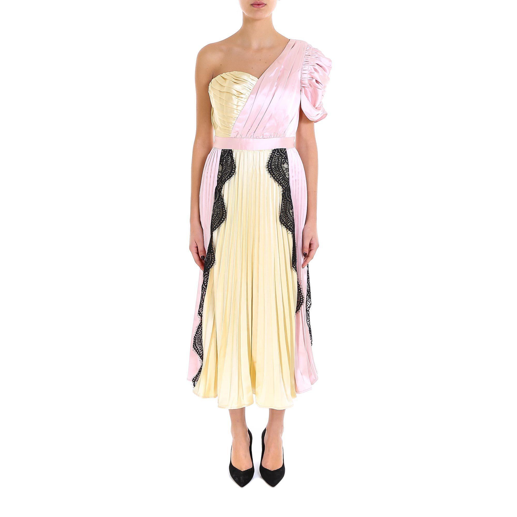 0ab6d4290d98 Lyst - Self-Portrait Lace Inserts One Shoulder Dress - Save 23%