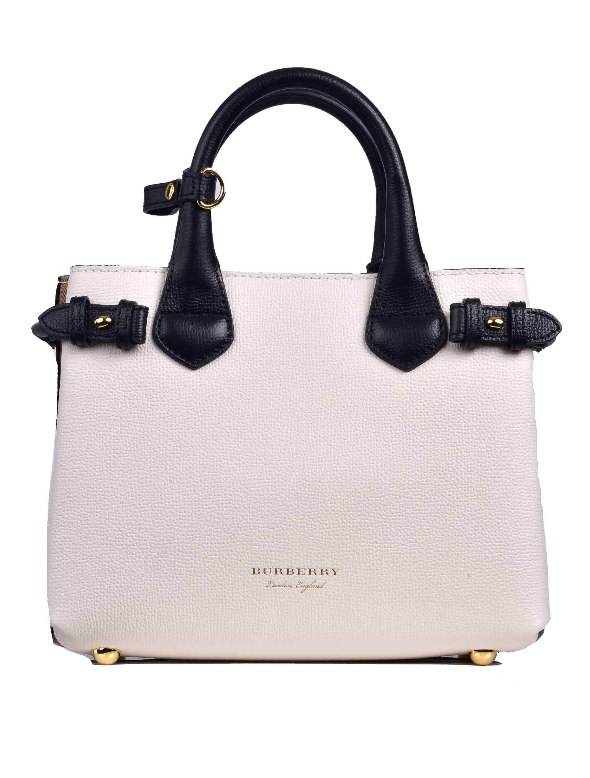 35e83fd9db70 Lyst - Burberry Small Banner Tote Bag in White