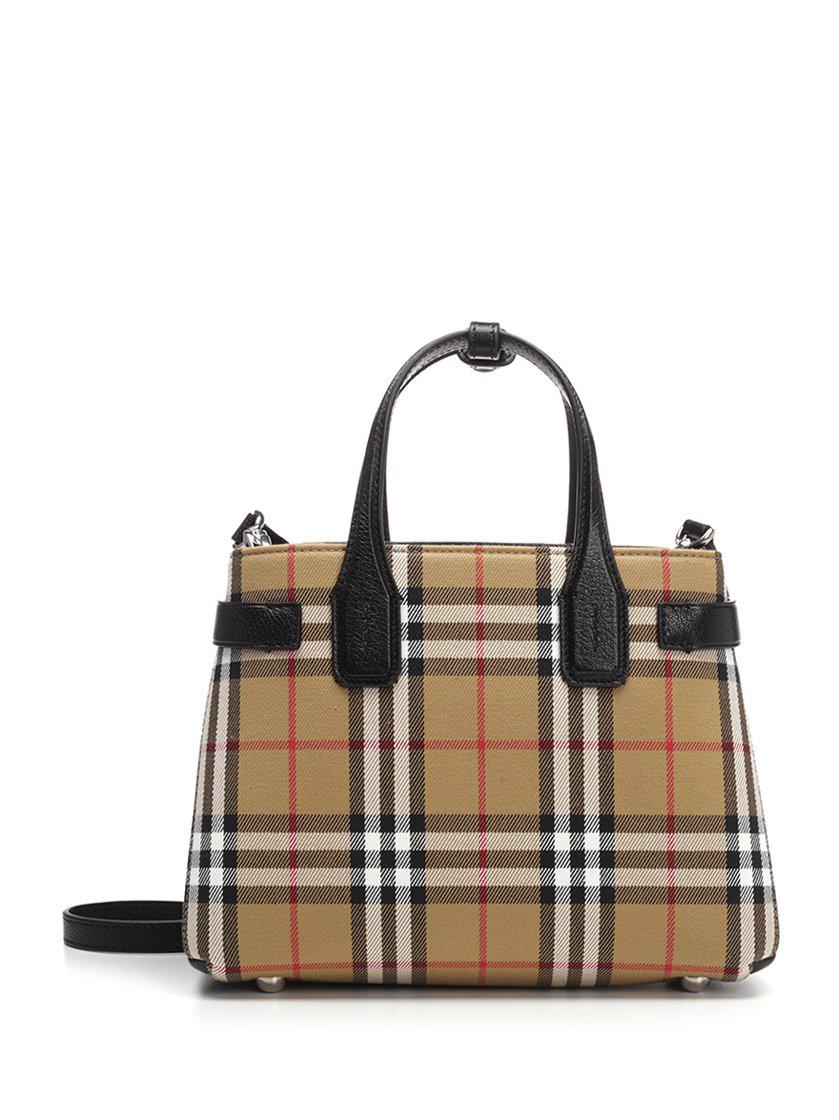 Burberry. Women s Vintage Check The Banner Tote 2271b864294fa