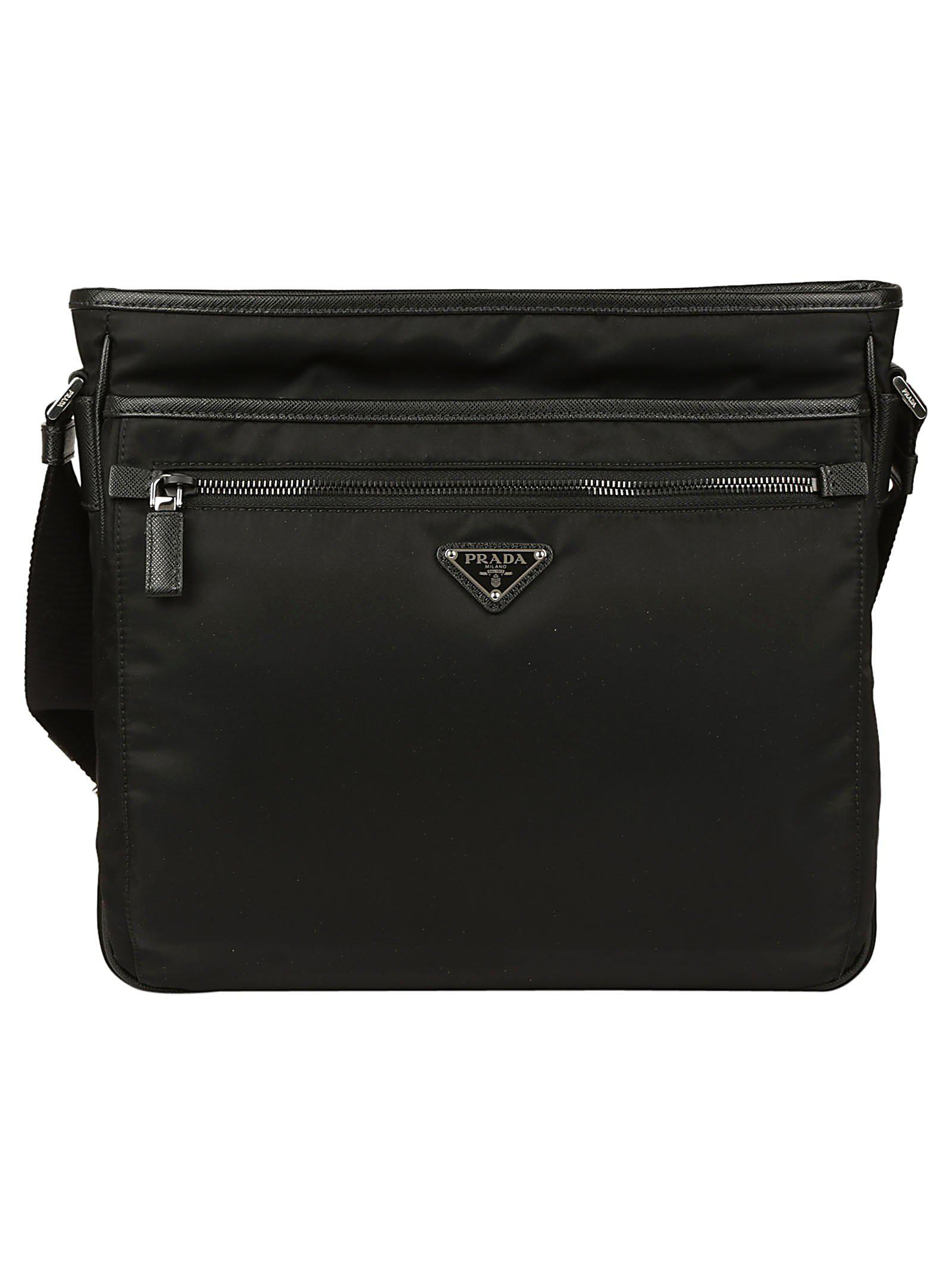 ebdeff1162f729 Lyst - Prada Zip Messenger Bag in Black for Men