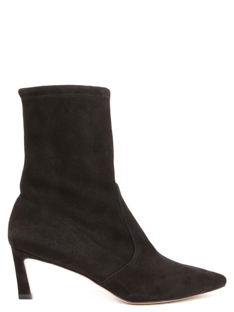 4fbfabd76 Lyst - Stuart Weitzman Heeled Ankle Boots in Black