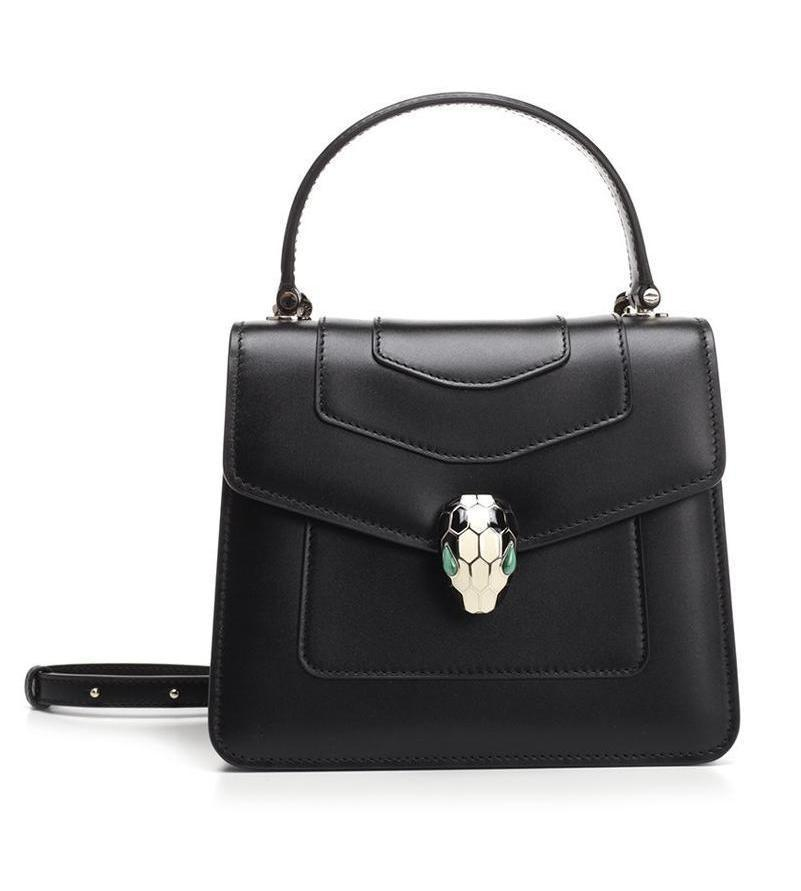 0bff83f3f1c Lyst - Bvlgari Serpenti Forever Flap Cover Bag in Black