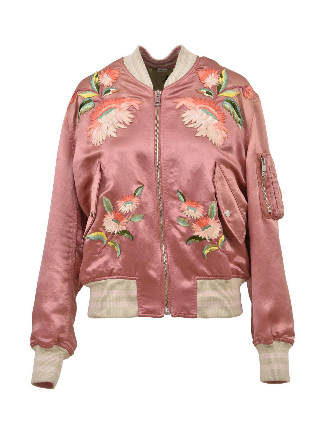 c4419c23 Lyst - Gucci Fication Bomber Jacket in Pink