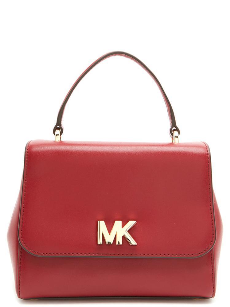fd5c3cb1c14 Lyst - Michael Michael Kors Mott Shoulder Bag in Red