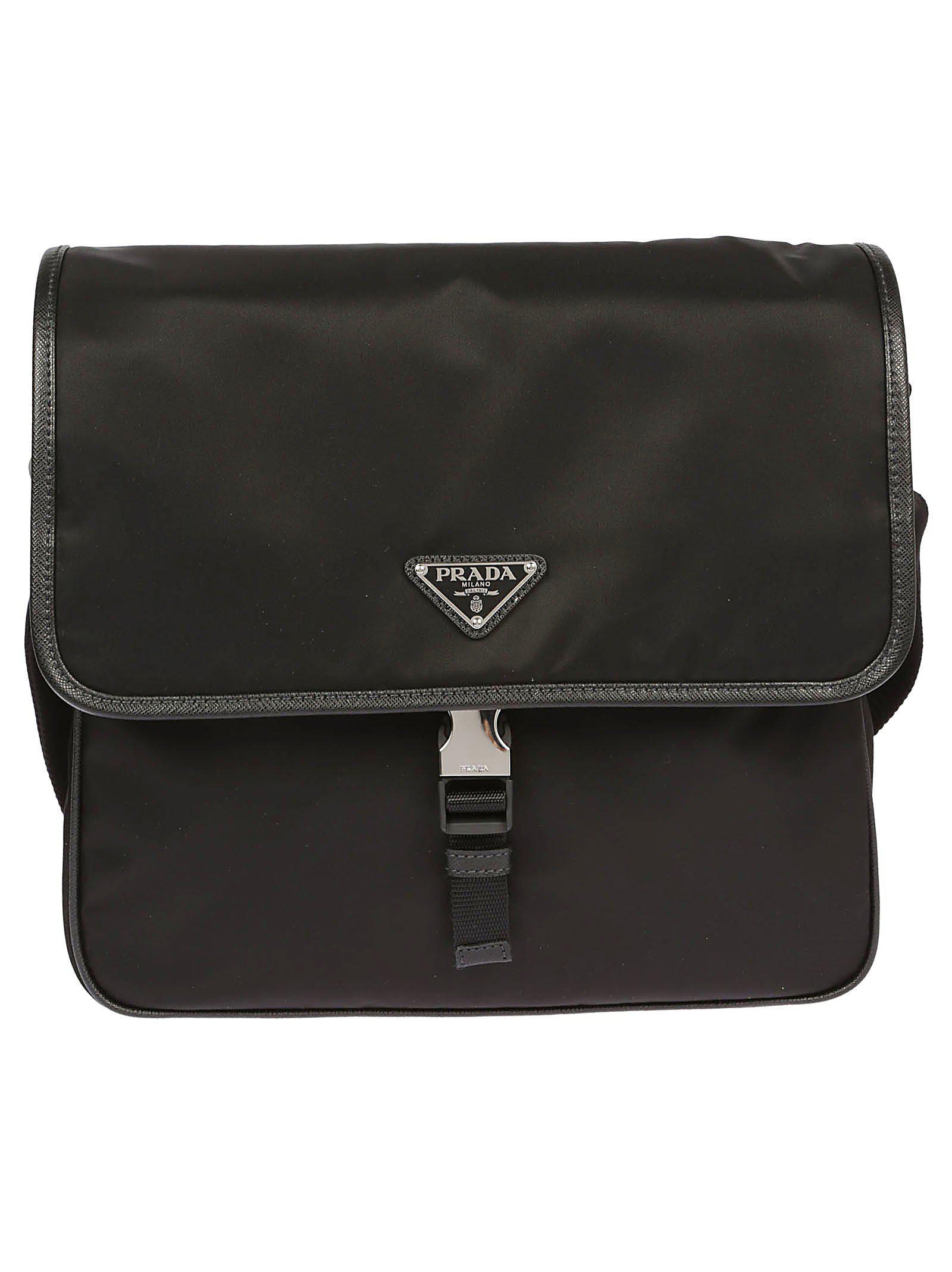 abb337a7c2b8 Prada Vela Messenger Bag in Black for Men - Lyst