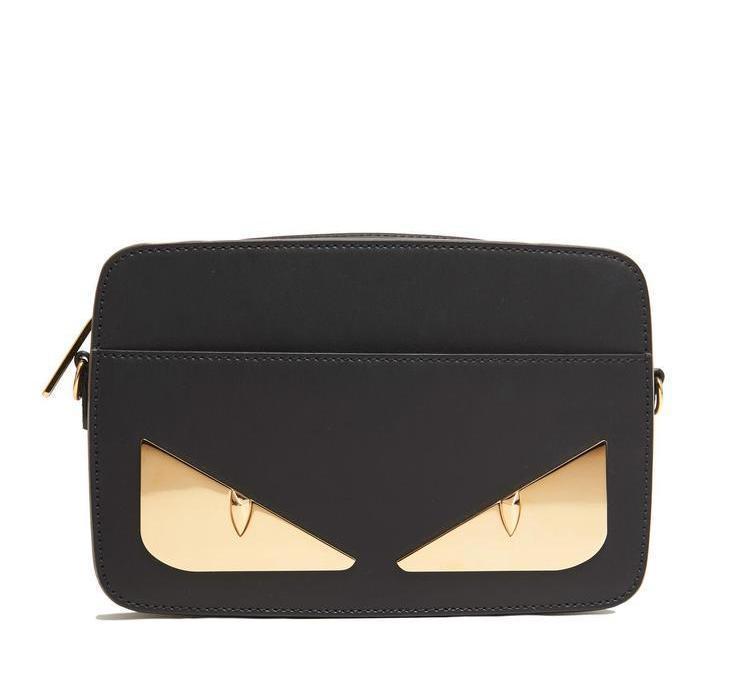 adbeb40f33a3 Lyst - Fendi Bag Bugs Leather Crossbody Bag in Black