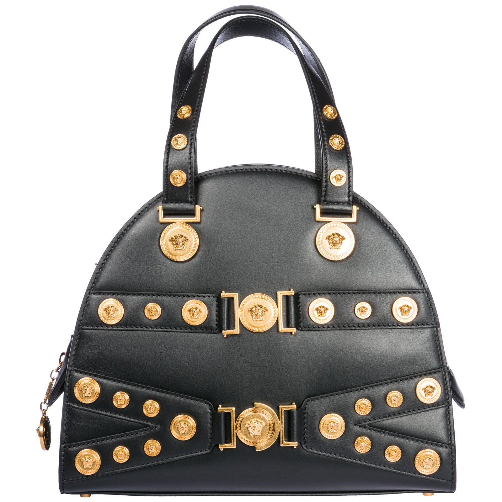 4c8dc1bab89c Versace Medusa Detailed Tote Bag in Black - Lyst