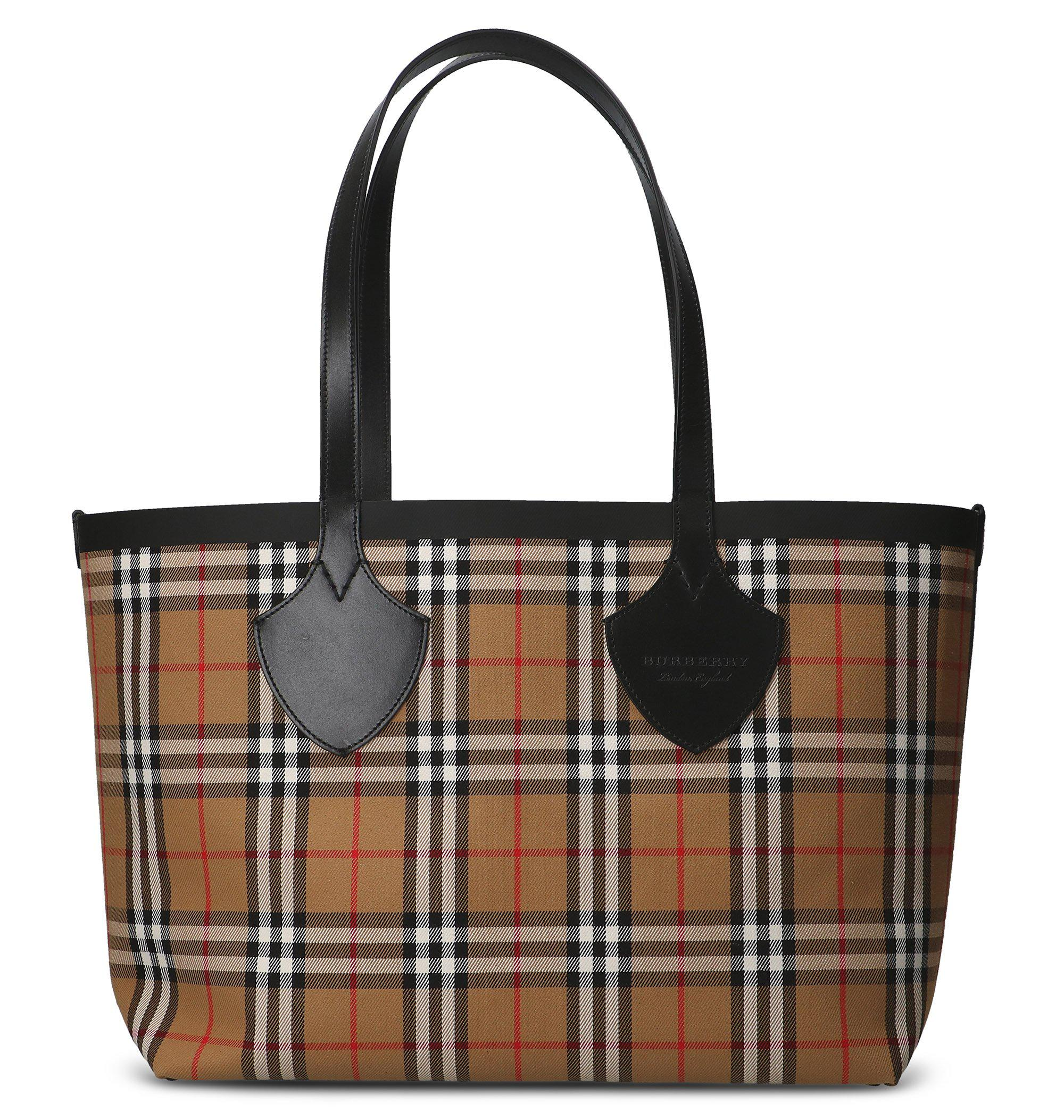 b5bb1d1eaccf Burberry - Multicolor Vintage Check Print Tote Bag - Lyst. View fullscreen