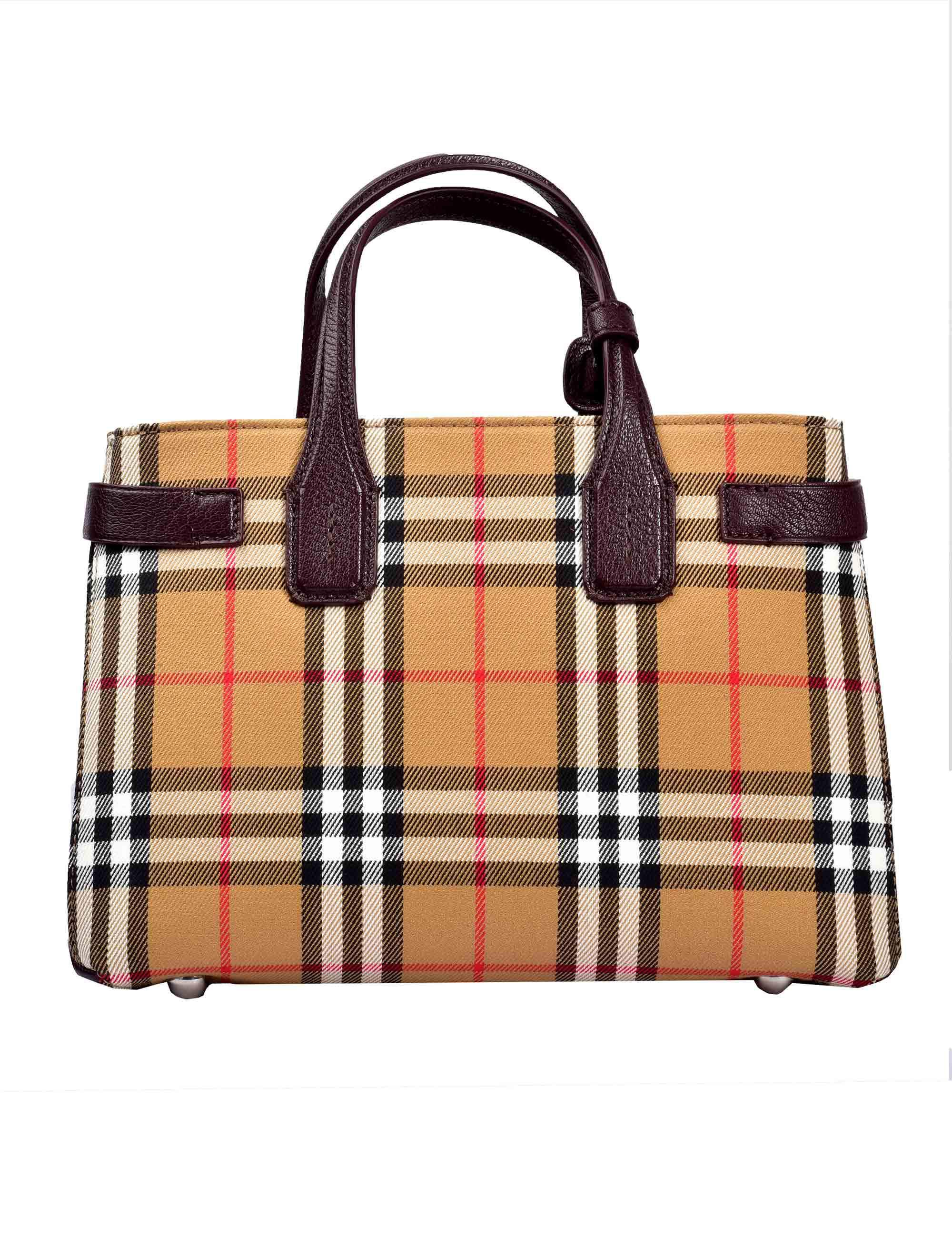 Burberry Small Banner Top Handle Bag in Brown - Lyst 3dfad364452f4