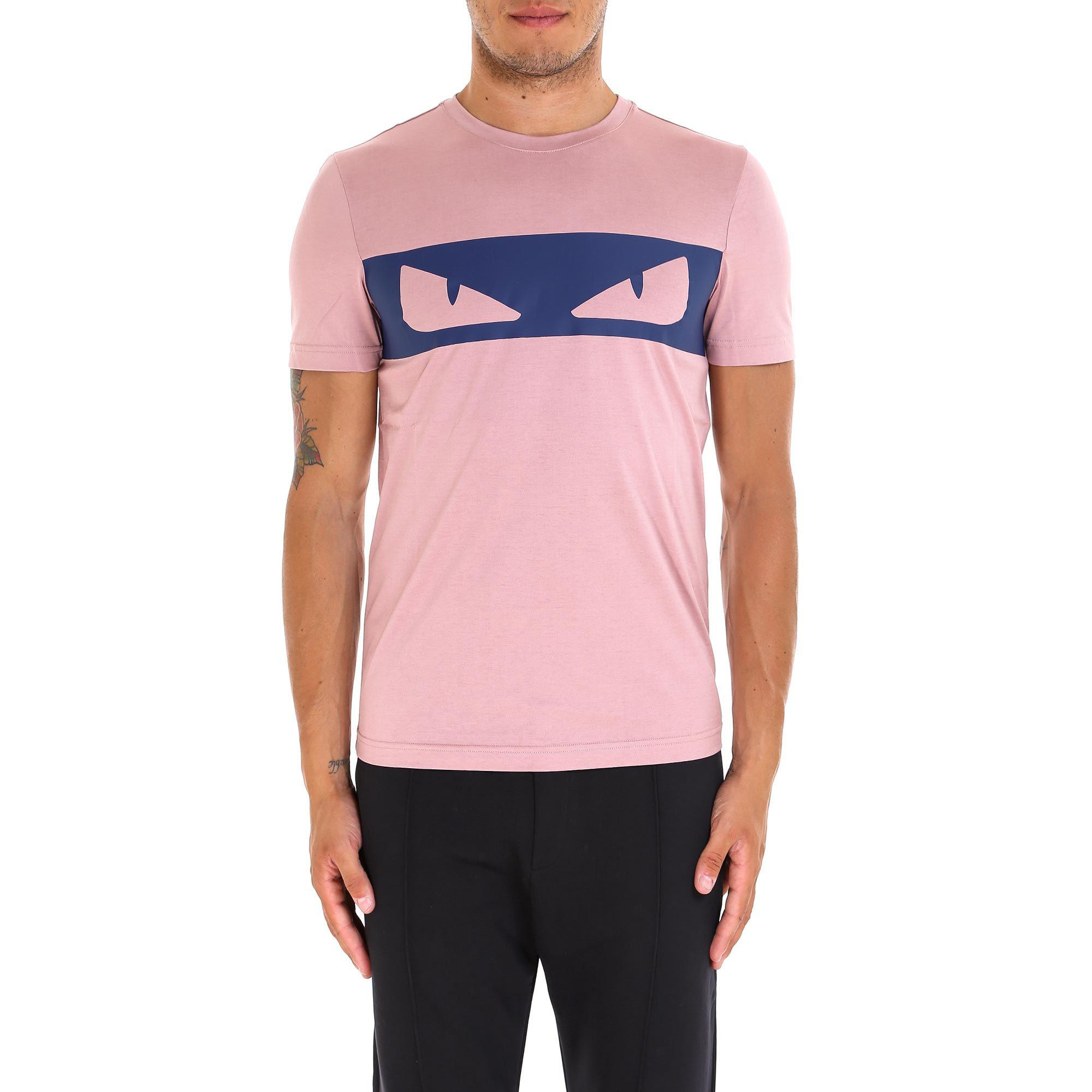 81b60d7a5 Lyst - Fendi Bag Bug Eyes T-shirt in Pink for Men