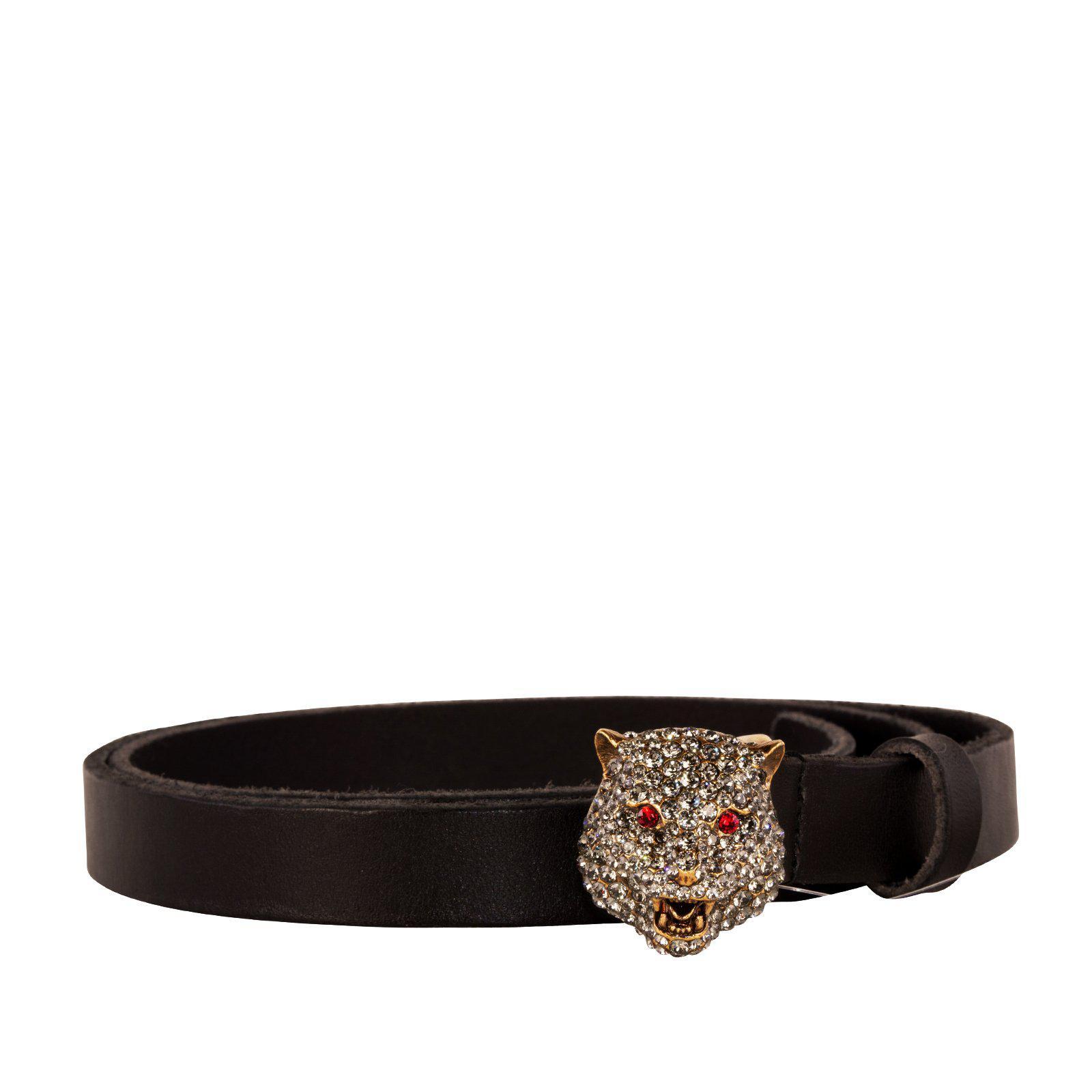 942b2c86f2c Gucci Tiger Buckle Belt in Black - Lyst