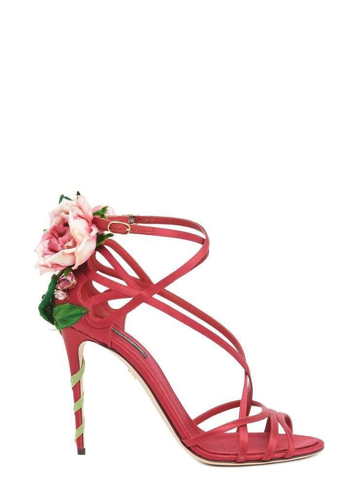 9aec726d728be Dolce   Gabbana Keira Rose High Heeled Sandals in Red - Lyst