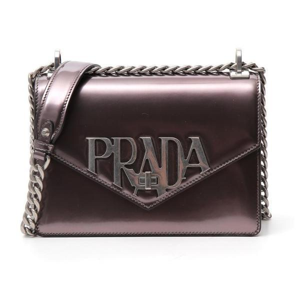 0bf4a7c0ba75a5 Prada Envelope Metallic Shoulder Bag in Purple - Lyst